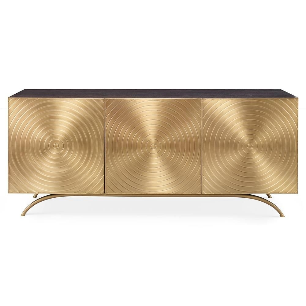 Mr. Brown Claudio Modern Regency Gold Sideboard Cabinet | 柜子 新 pertaining to Geo Capiz Sideboards (Image 26 of 30)