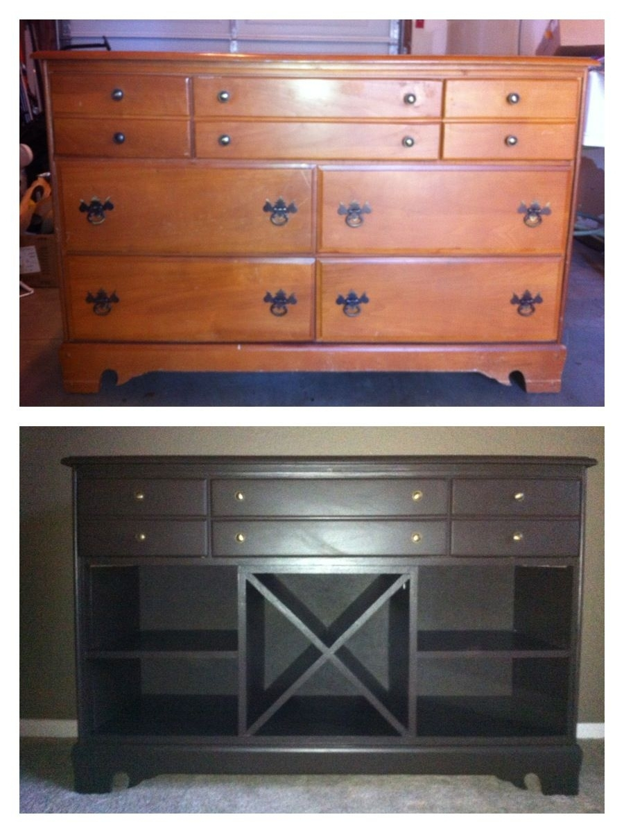 My First Large Wood Project, Dresser To Buffet. I First Attempted To intended for Amos Buffet Sideboards (Image 19 of 30)