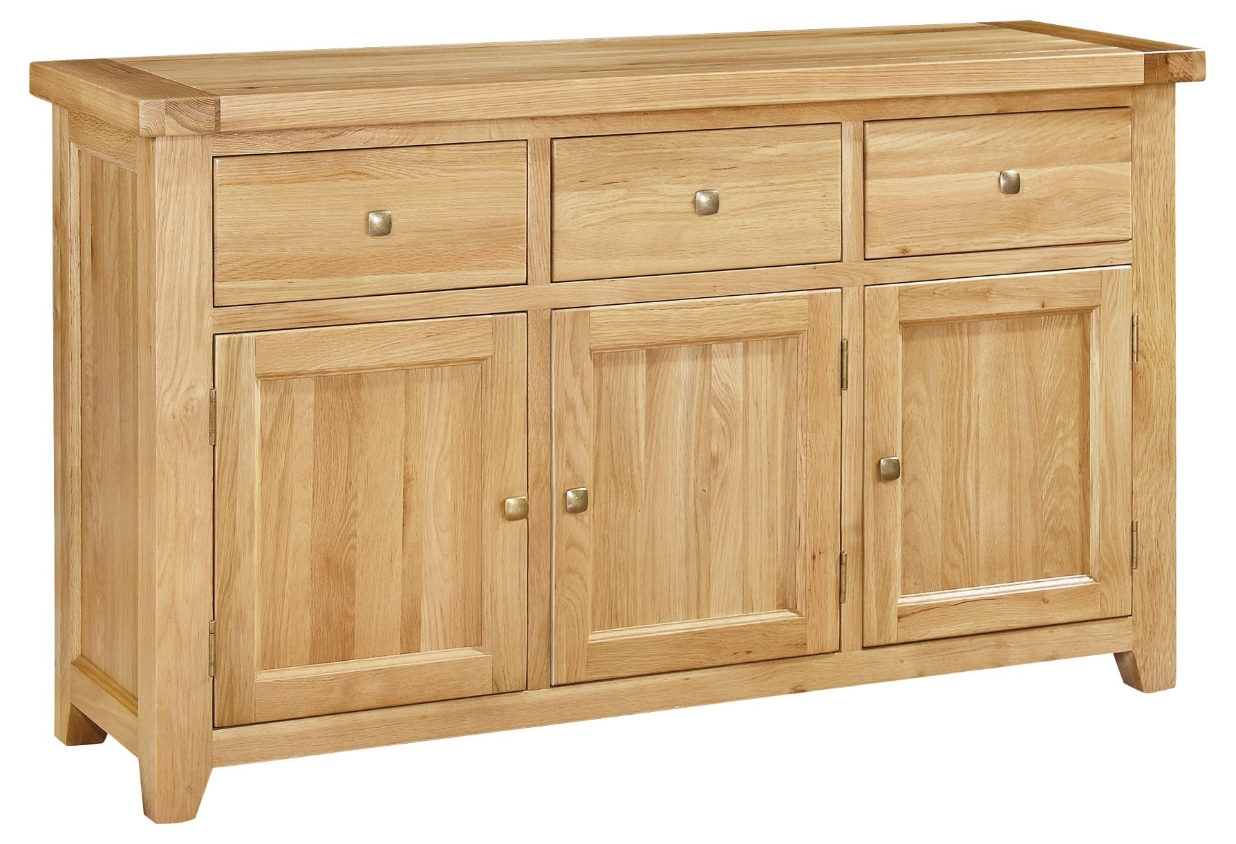 Natur Pur Paulita 3 Door 3 Drawer Sideboard | Wayfair.co.uk With 3 Door 3 Drawer Metal Inserts Sideboards (Photo 4 of 30)