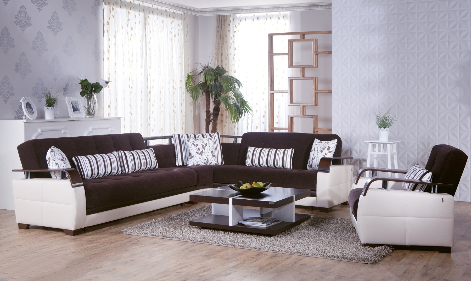 Natural Colins Brown Sectional Sofa Natural Sunset Furniture regarding Collins Sofa Sectionals With Reversible Chaise (Image 19 of 30)