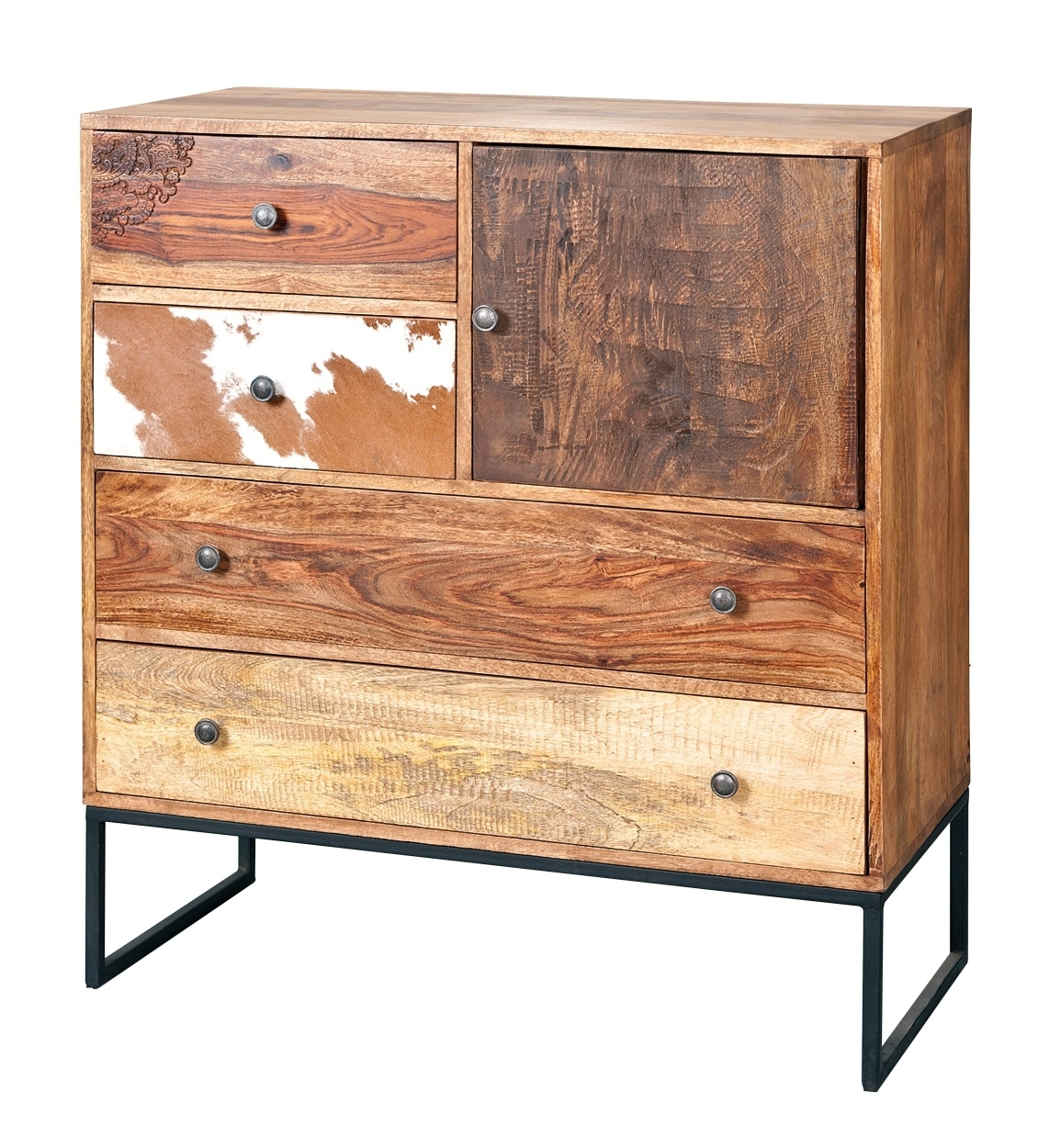 Natural Look Chest Of Drawers In Mango Wood 25607 Furniture intended for Mango Wood 2-Door/2-Drawer Sideboards (Image 20 of 30)
