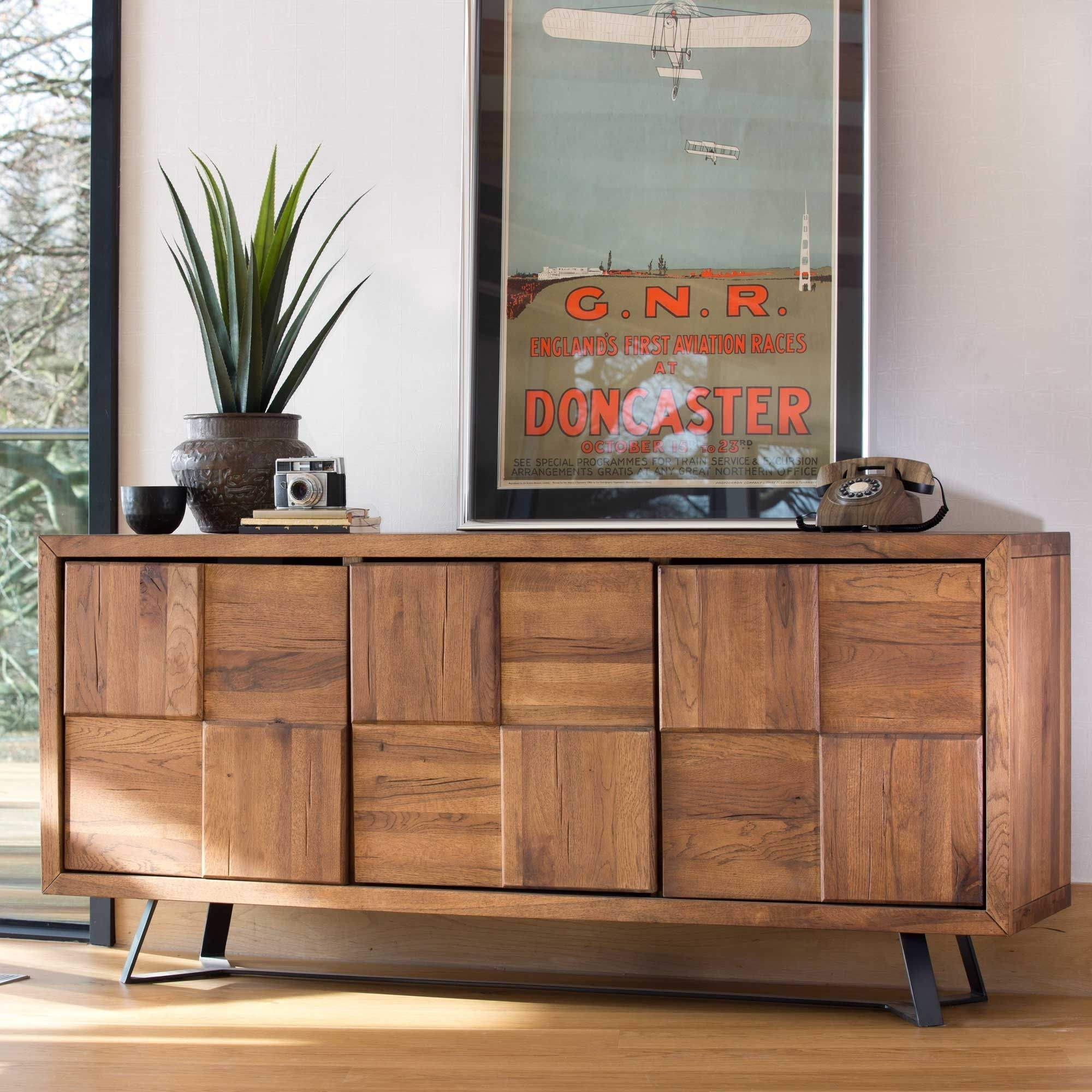 Navarro Pisa Caro Sideboard | Sideboards | Dining Room | Bedroom With Starburst 3 Door Sideboards (Photo 16 of 30)