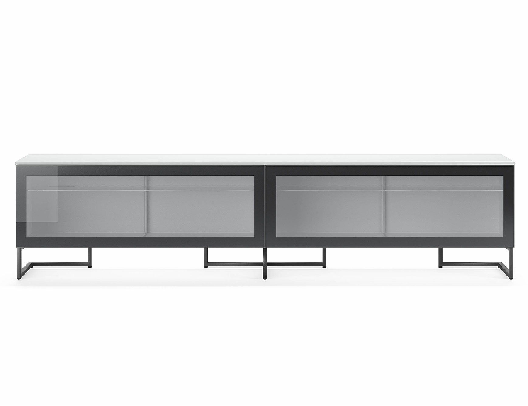 Nella Vetrina Pianca Spazio Sgm240 Contemporary Italian Tv Unit In Throughout Black Burnt Oak Sideboards (Photo 15 of 30)