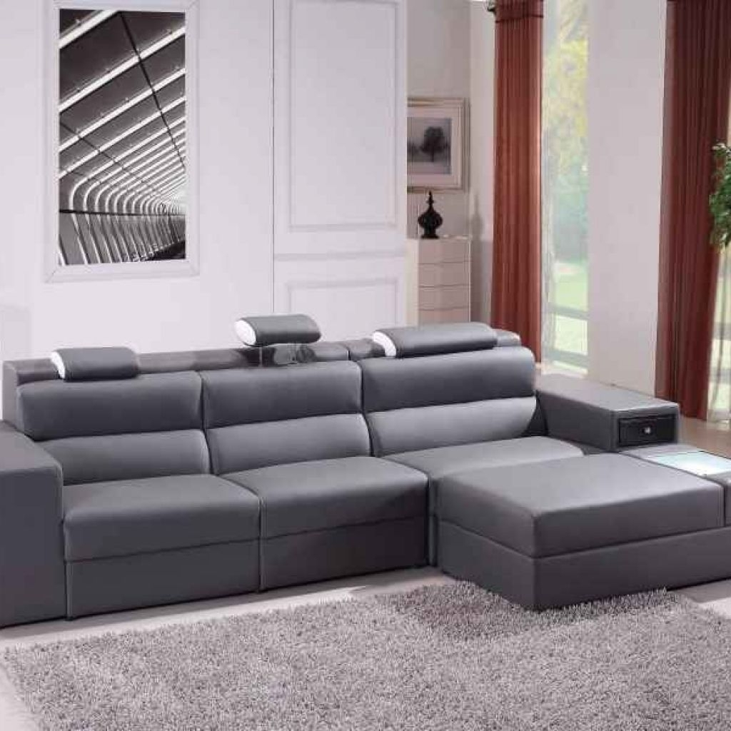 New Small Spaces Grey Microfiber Configurable Sectional Sofa From regarding Gordon 3 Piece Sectionals With Raf Chaise (Image 22 of 30)