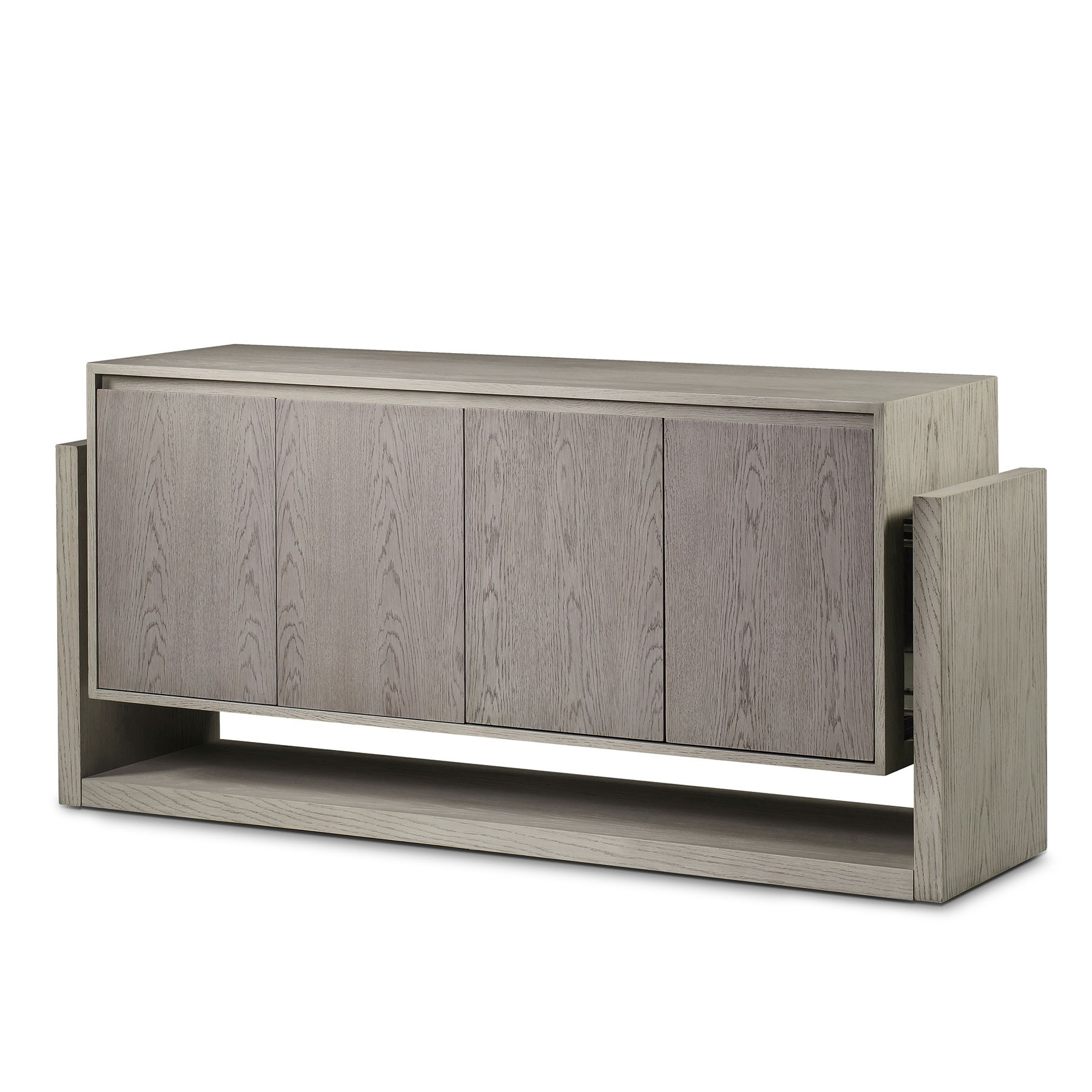Newman 4 Door Sideboard   Whitewashed | Resource Decor 1404025 Throughout 4 Door 3 Drawer White Wash Sideboards (Photo 18 of 30)