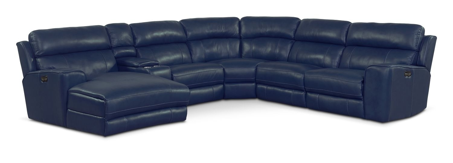 Newport 6 Piece Power Reclining Sectional With Left Facing Chaise Inside Mesa Foam 2 Piece Sectionals (Photo 17 of 30)