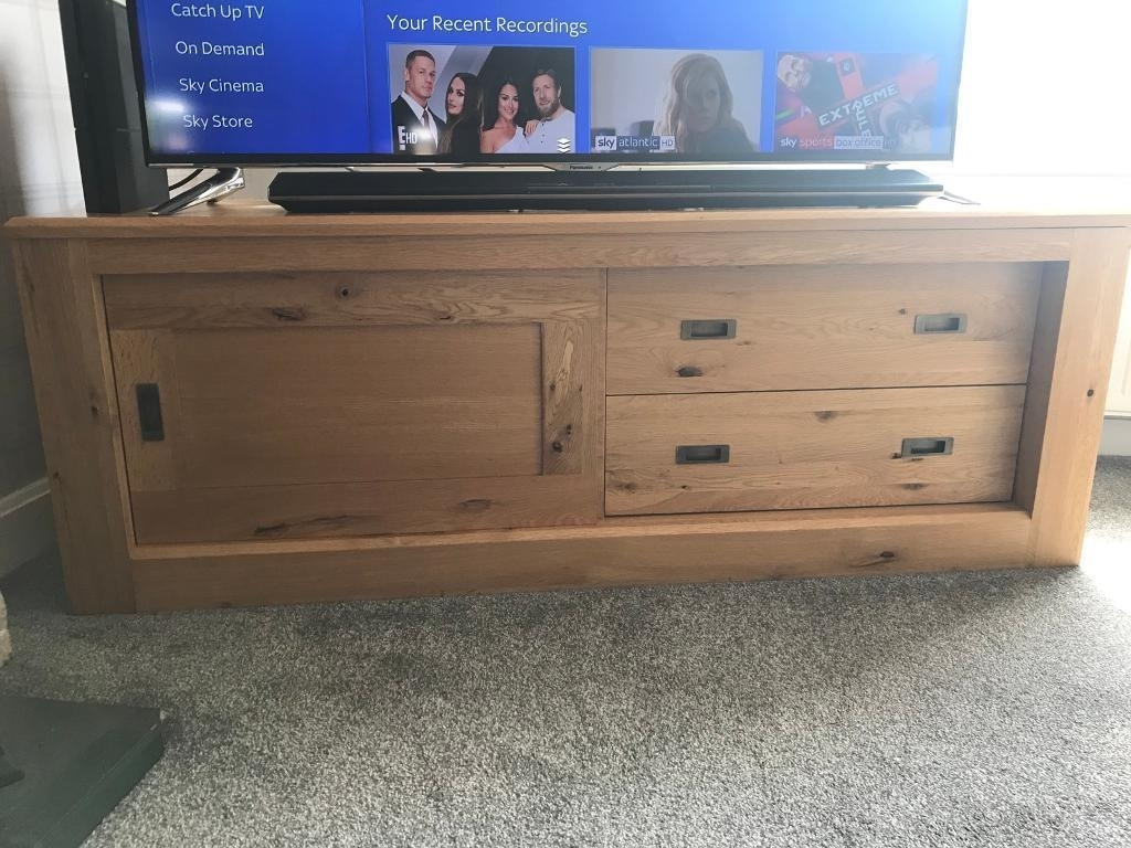 Next Solid Oak Hudson Tv Unit | In Leven, Fife | Gumtree With Leven Wine Sideboards (Photo 3 of 30)