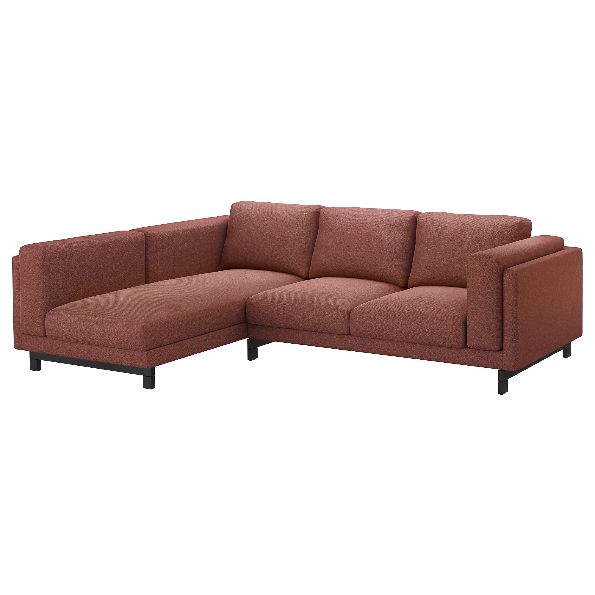 Nockeby Sofa - With Chaise, Chrome Plated - Ikea inside Haven Blue Steel 3 Piece Sectionals (Image 24 of 30)