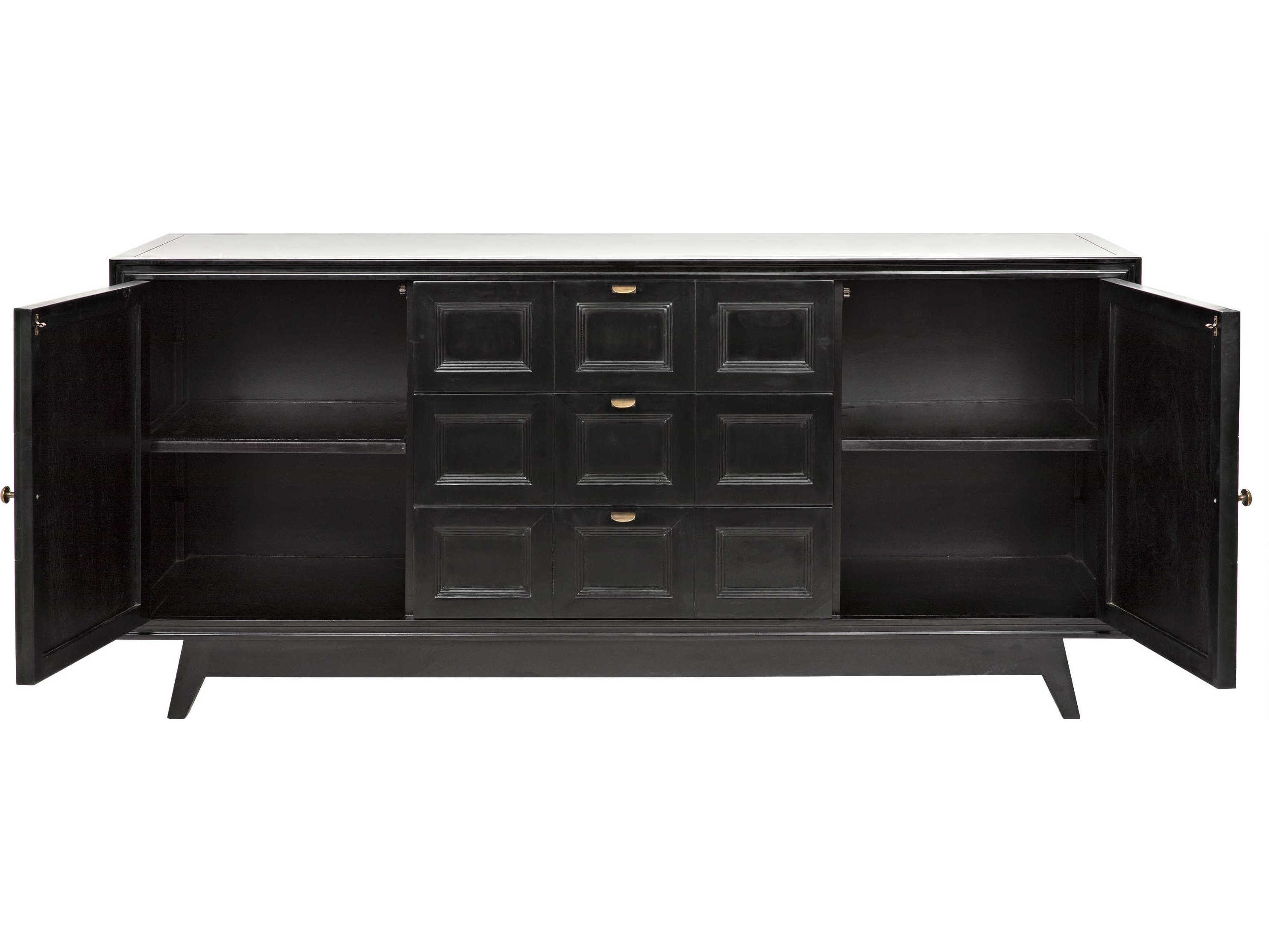 Noir Furniture Wyatt Charcoal 73'' X 23'' Sideboard | Noigcon249Ch pertaining to Wyatt Sideboards (Image 11 of 30)