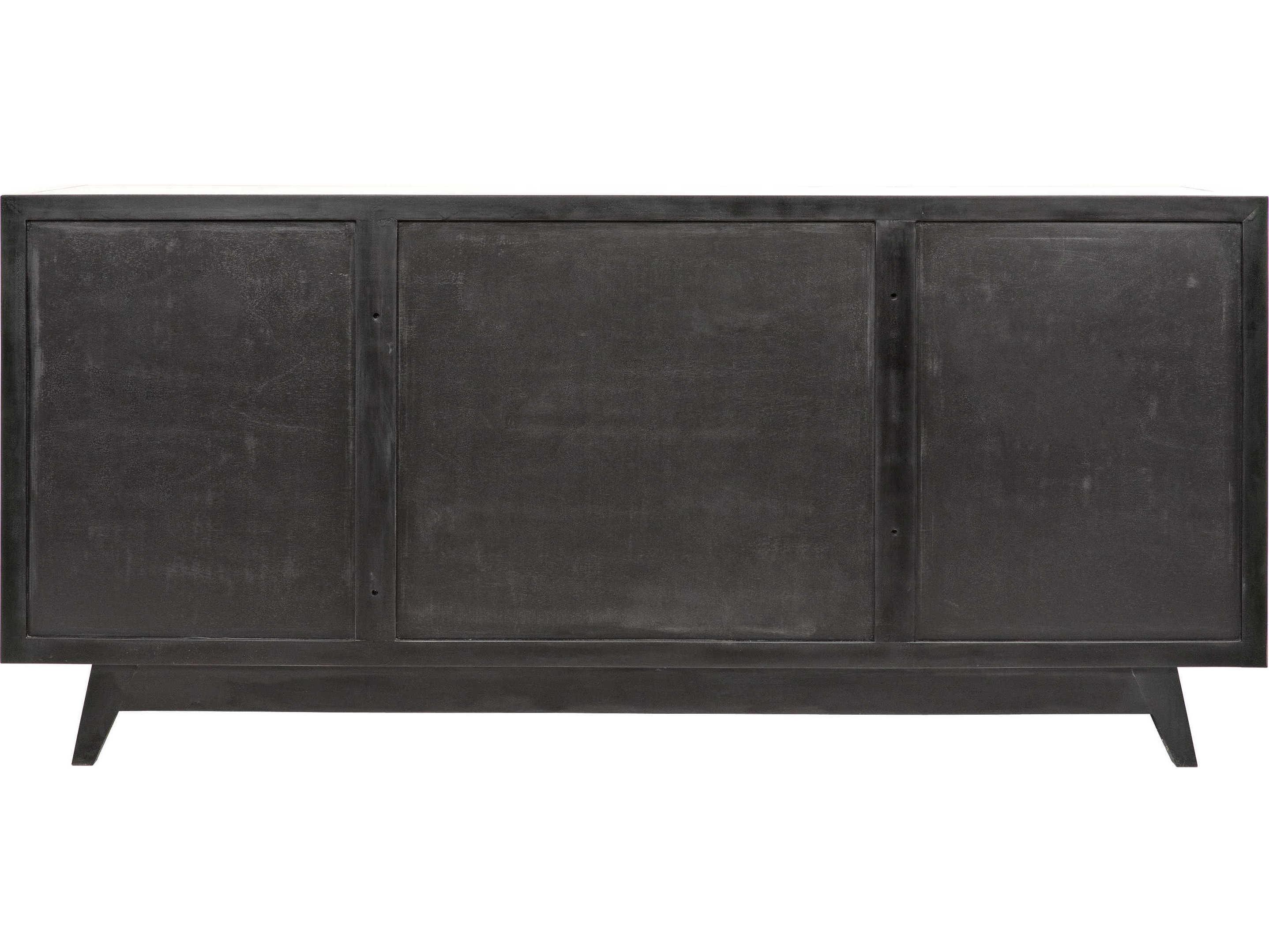 Noir Furniture Wyatt Charcoal 73'' X 23'' Sideboard | Noigcon249Ch regarding Wyatt Sideboards (Image 12 of 30)