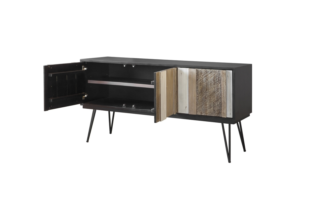 Noir Havana Sideboard | Noir Havana | Collections | Lh Imports With Blue Stone Light Rustic Black Sideboards (Photo 29 of 30)