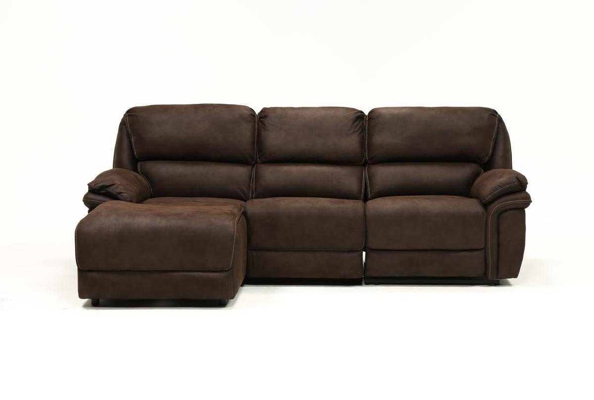 Norfolk Chocolate 3 Piece Sectional W/laf Chaise | Living Spaces With Regard To Norfolk Grey 3 Piece Sectionals With Laf Chaise (Photo 4 of 30)