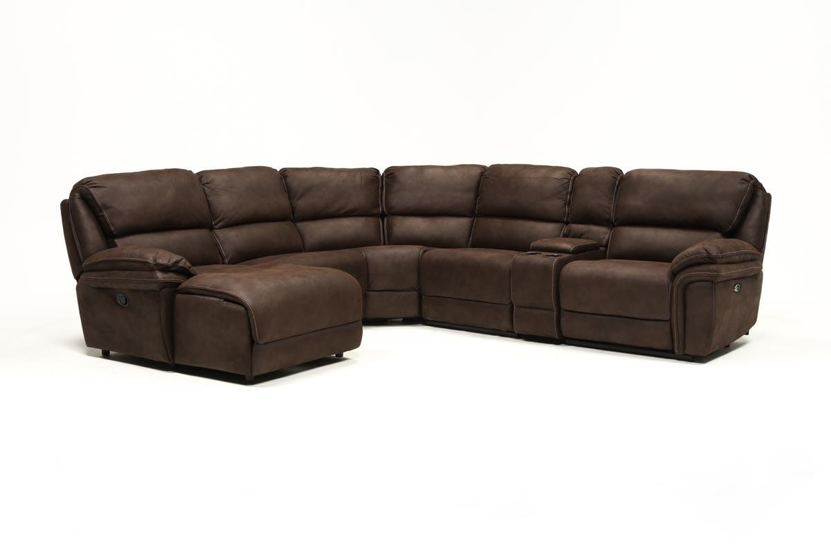 Norfolk Chocolate 6 Piece Sectional W/laf Chaise | Living Spaces In Norfolk Chocolate 3 Piece Sectionals With Laf Chaise (Photo 4 of 30)