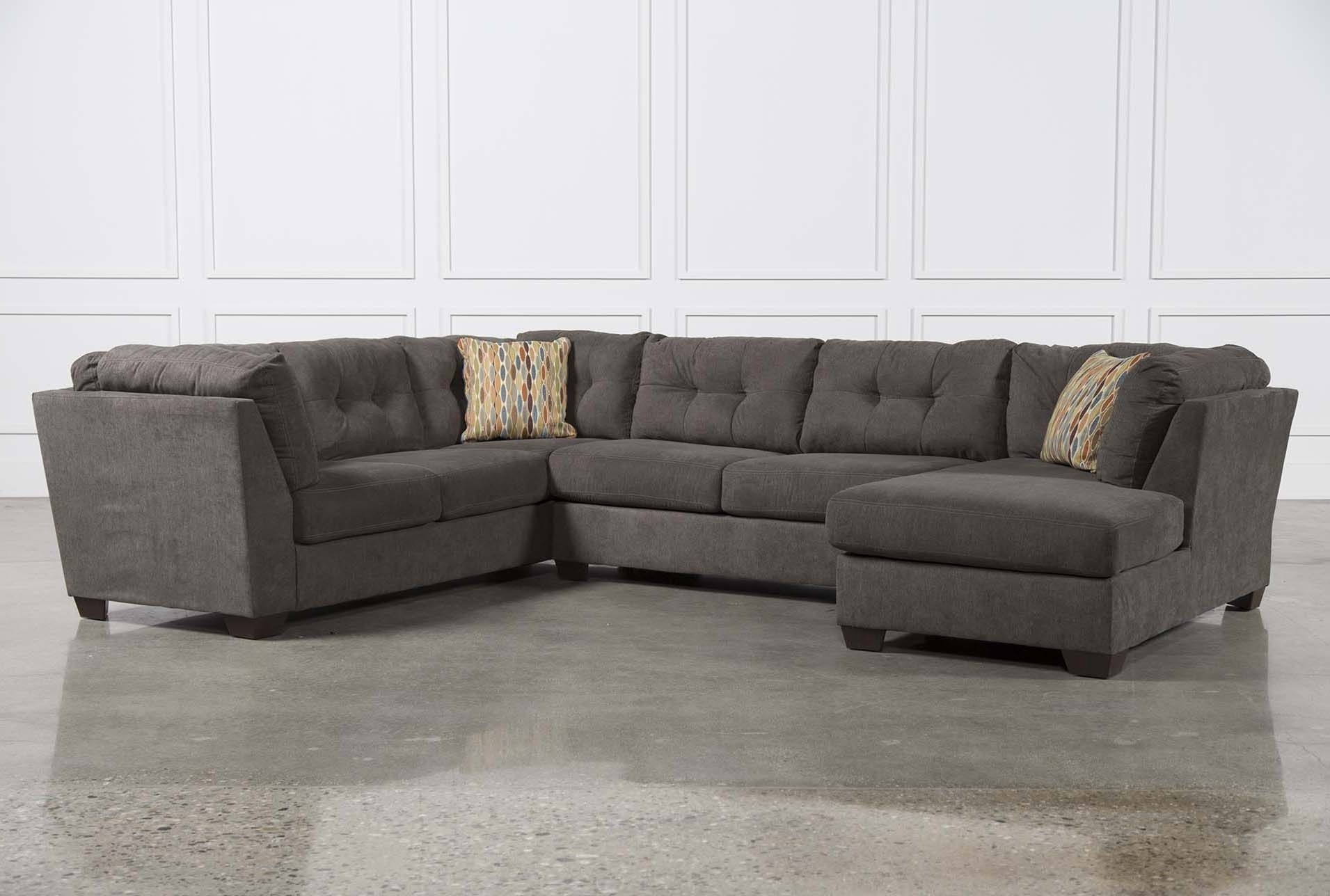 Norfolk Grey 3 Piece Sectional W/laf Chaise in Norfolk Grey 3 Piece Sectionals With Laf Chaise (Image 21 of 30)