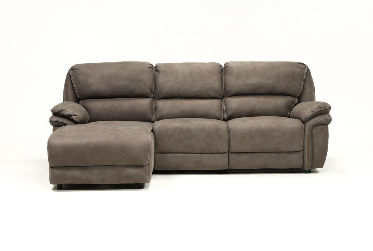 Norfolk Grey 3 Piece Sectional W/laf Chaise | Living Spaces Pertaining To Norfolk Chocolate 3 Piece Sectionals With Raf Chaise (Photo 3 of 30)