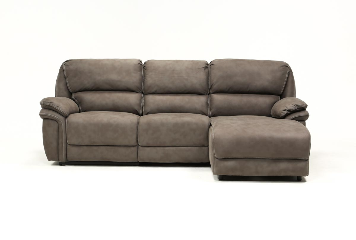 Norfolk Grey 3 Piece Sectional W/raf Chaise | Living Spaces For Norfolk Grey 6 Piece Sectionals With Raf Chaise (Photo 5 of 30)