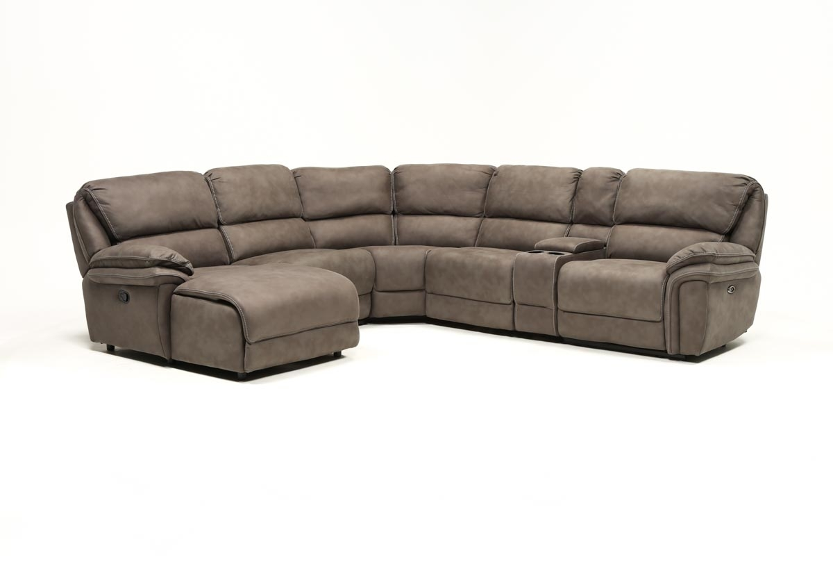 Norfolk Grey 6 Piece Sectional W/laf Chaise | Living Spaces In Norfolk Grey 6 Piece Sectionals With Raf Chaise (Photo 1 of 30)