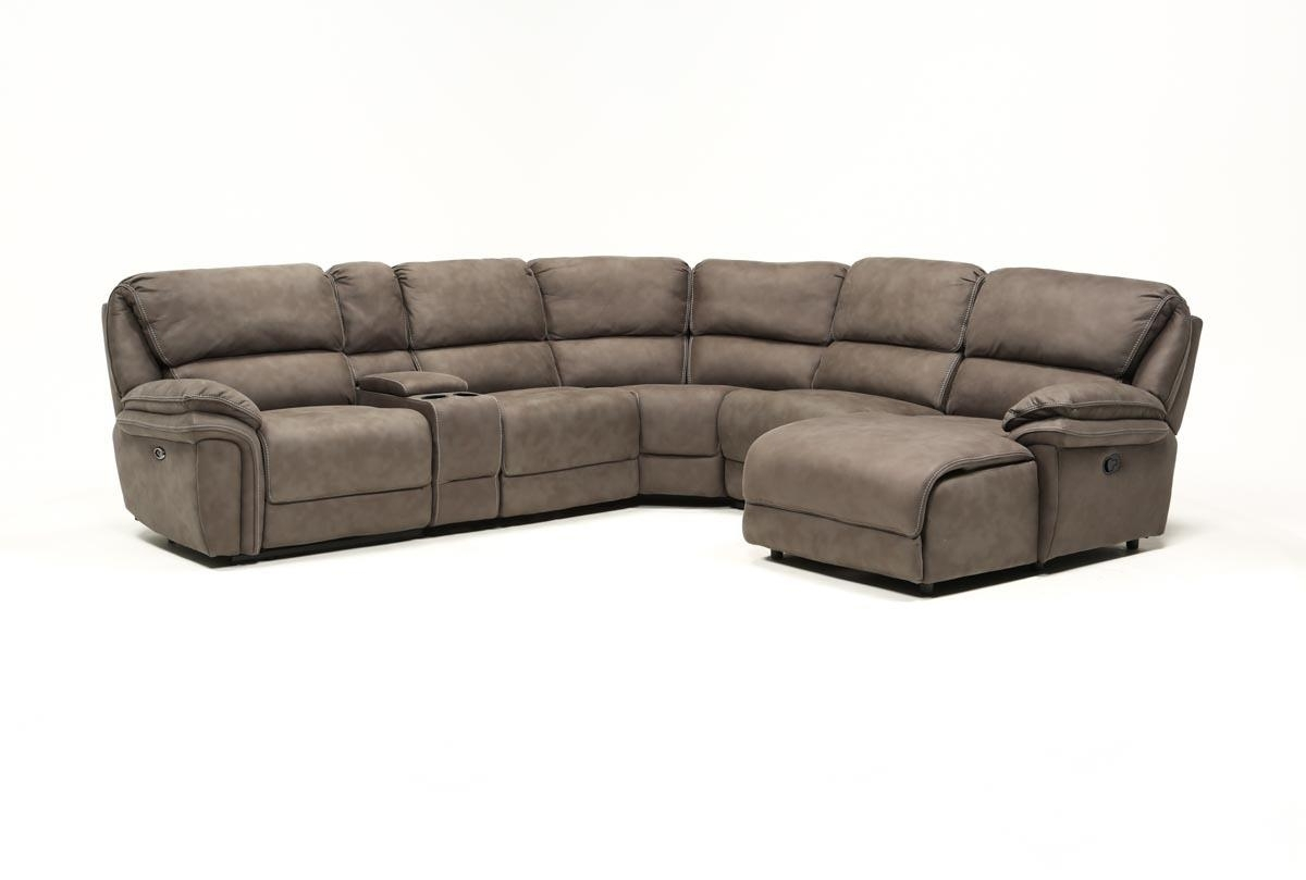 Norfolk Grey 6 Piece Sectional W/raf Chaise | Living Spaces Pertaining To Norfolk Grey 3 Piece Sectionals With Raf Chaise (Photo 3 of 30)