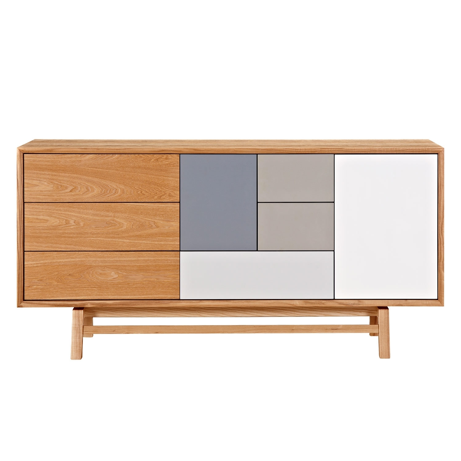 Nyekoncept Grane Sideboard | Wayfair With Regard To Open Shelf Brass 4 Drawer Sideboards (Photo 2 of 30)