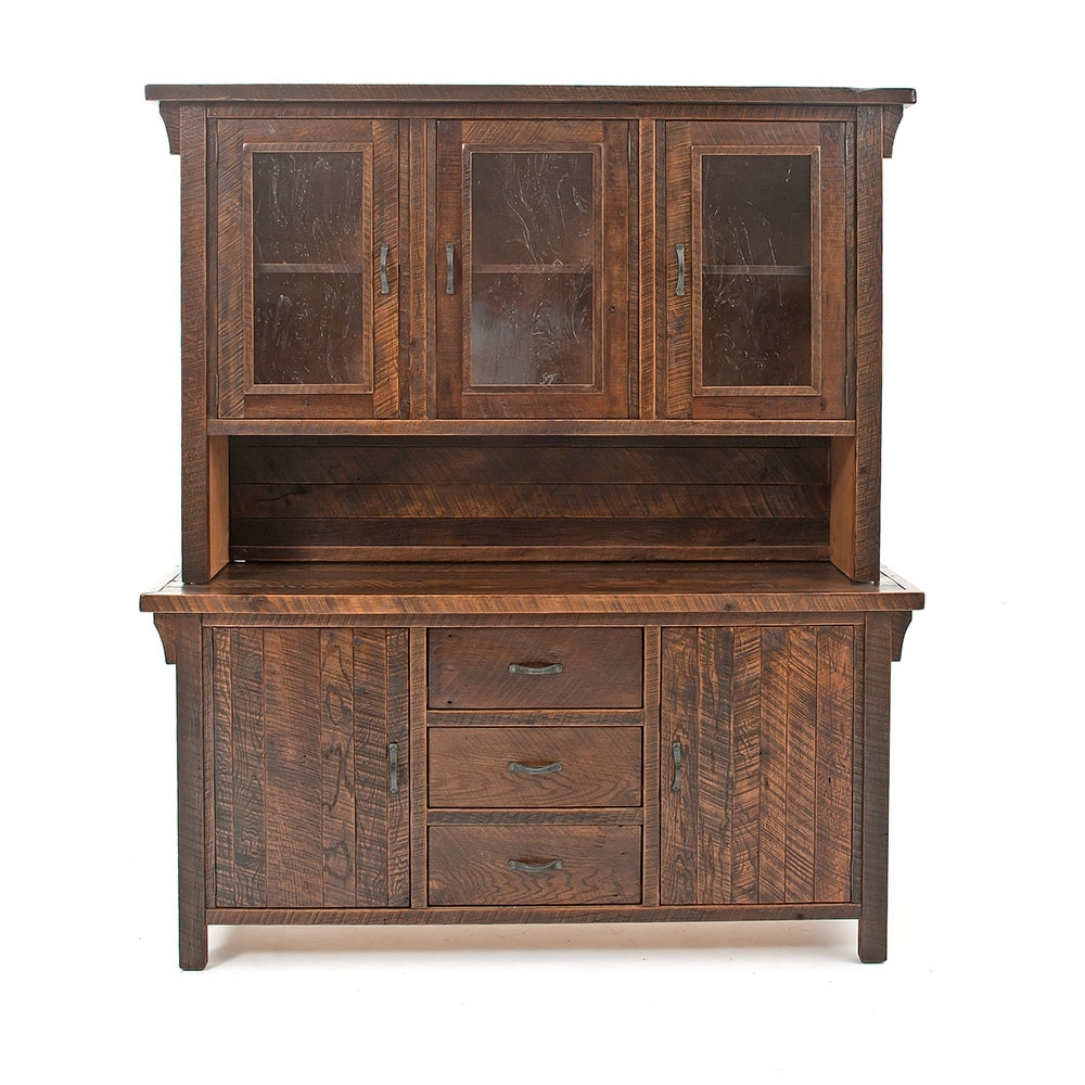 Oak Haven Reclaimed Barn Wood Buffet-Hutch 17722 throughout Calhoun Sideboards (Image 14 of 30)
