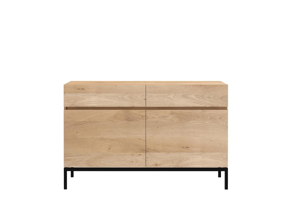 Oak Ligna Sideboard - 2 Doors, 2 Drawer 110/45/78 Cm | Ethnicraft for 2-Drawer Sideboards (Image 21 of 30)