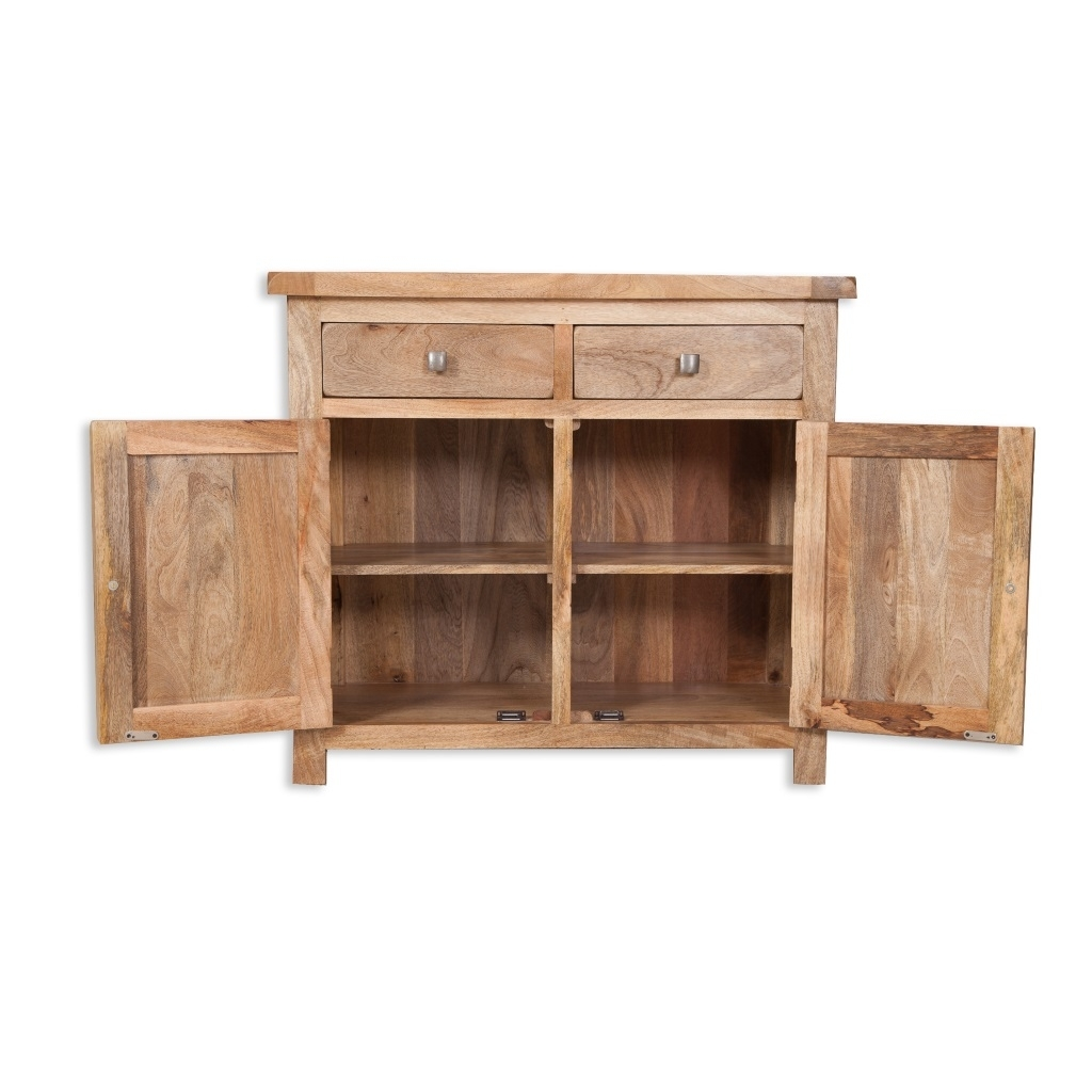 Odisha Small Sideboard 100% Mango Wood | Ashgate Furniture Co. intended for Natural Mango Wood Finish Sideboards (Image 20 of 30)