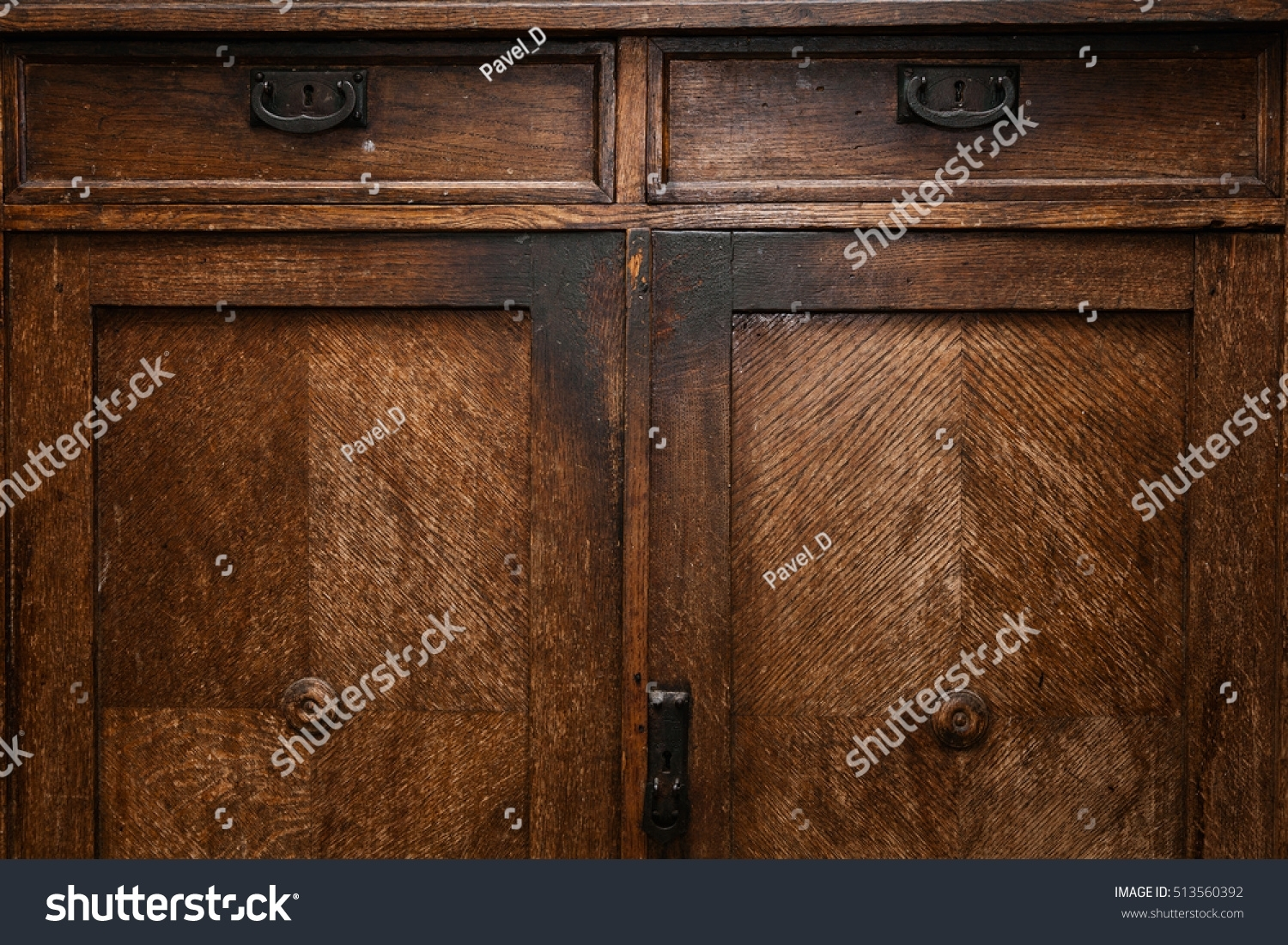 Old Vintage Wooden Sideboard Antique Furniture Stock Photo (Edit Now with regard to Vintage Brown Textured Sideboards (Image 12 of 30)
