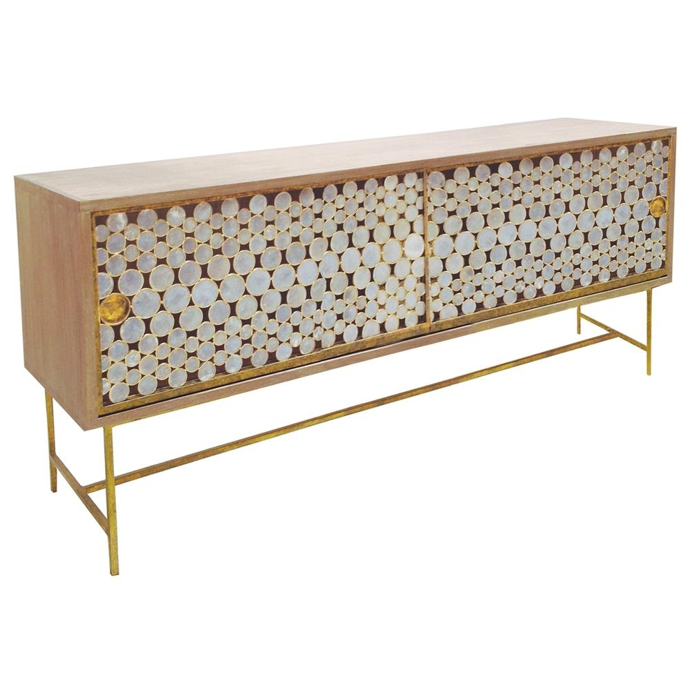 Oly Studio Serena Capiz Shell Gold Driftwood Buffet | Kathy Kuo Home with Capiz Refinement Sideboards (Image 20 of 30)