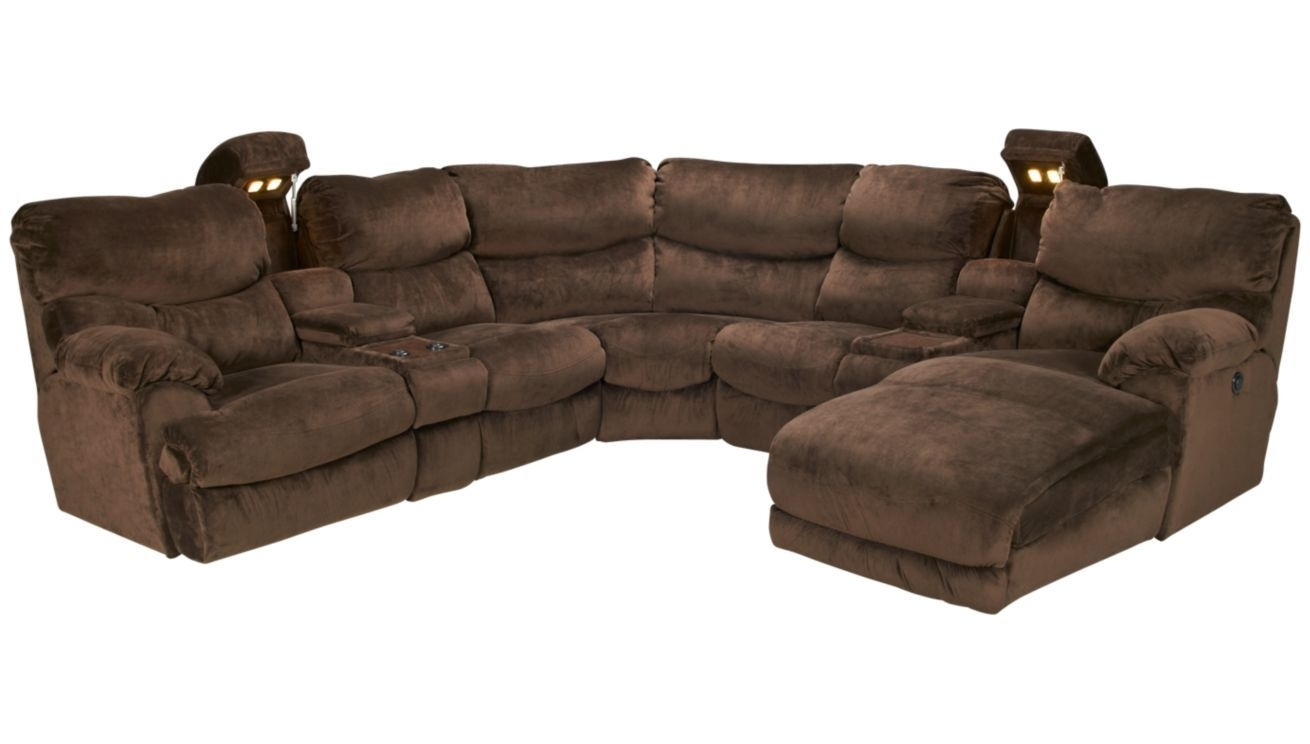 Omg. Giant Comfy Sectional With Recliners And Hidden Cup-Holders pertaining to Marcus Chocolate 6 Piece Sectionals With Power Headrest And Usb (Image 15 of 30)