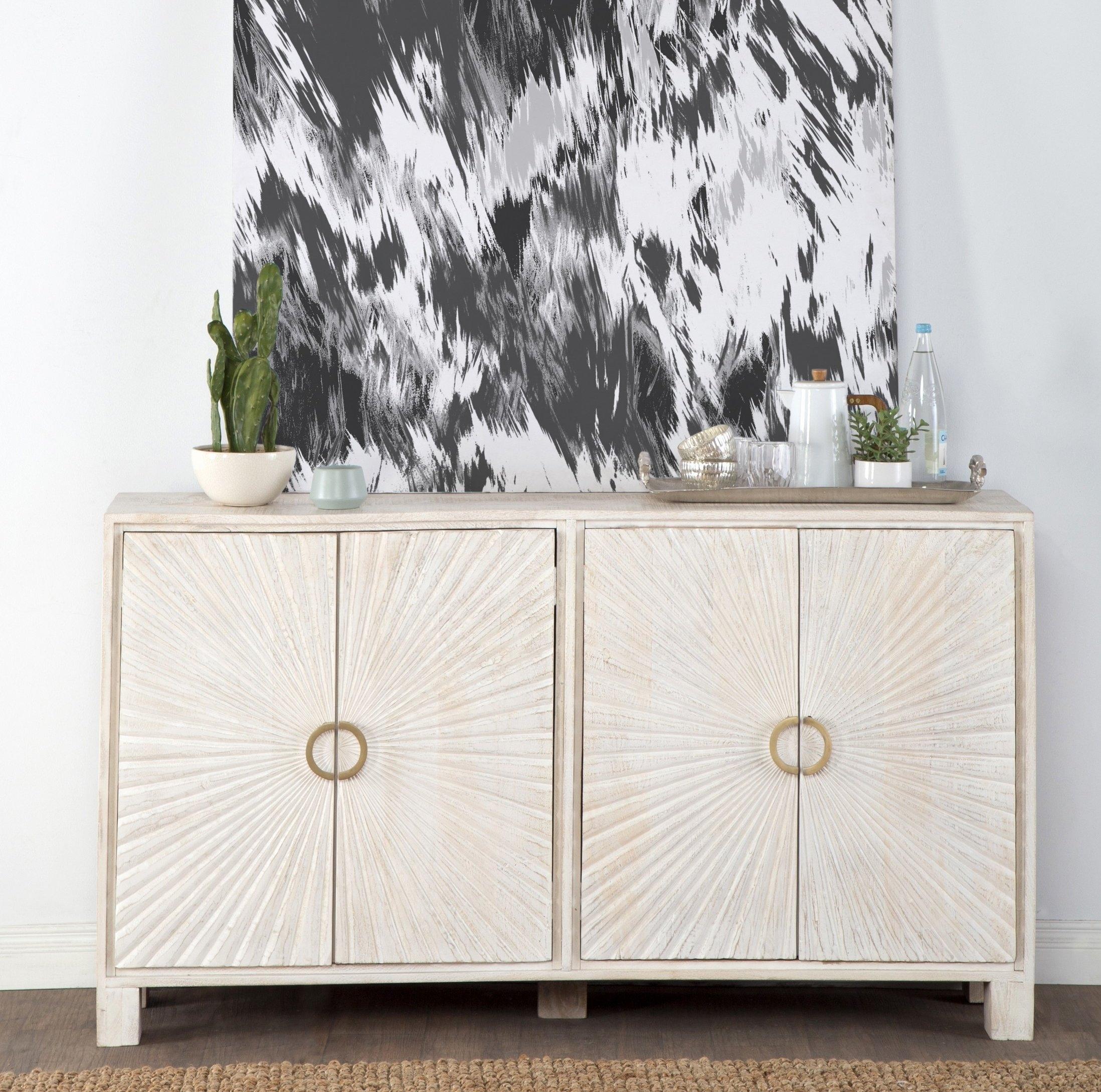 Ophelia & Co. Vidaurri 4 Door Sideboard | Wayfair.ca inside Solar Refinement Sideboards (Image 17 of 30)