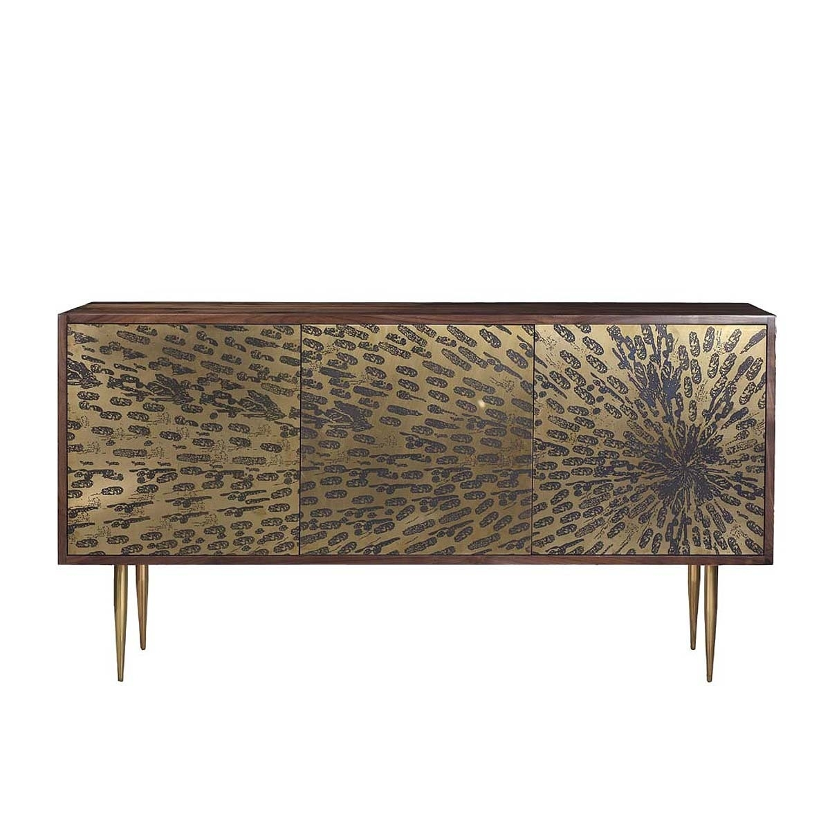 Organic Modernism - Peacock Credenza - Modern Sideboards Buy Your in Open Shelf Brass 4-Drawer Sideboards (Image 13 of 30)