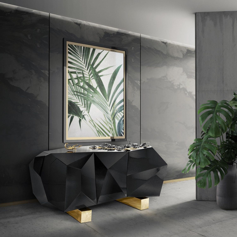 Original Design Sideboard / Wooden / Brass / Black - Diamond regarding Diamond Circle Sideboards (Image 19 of 30)