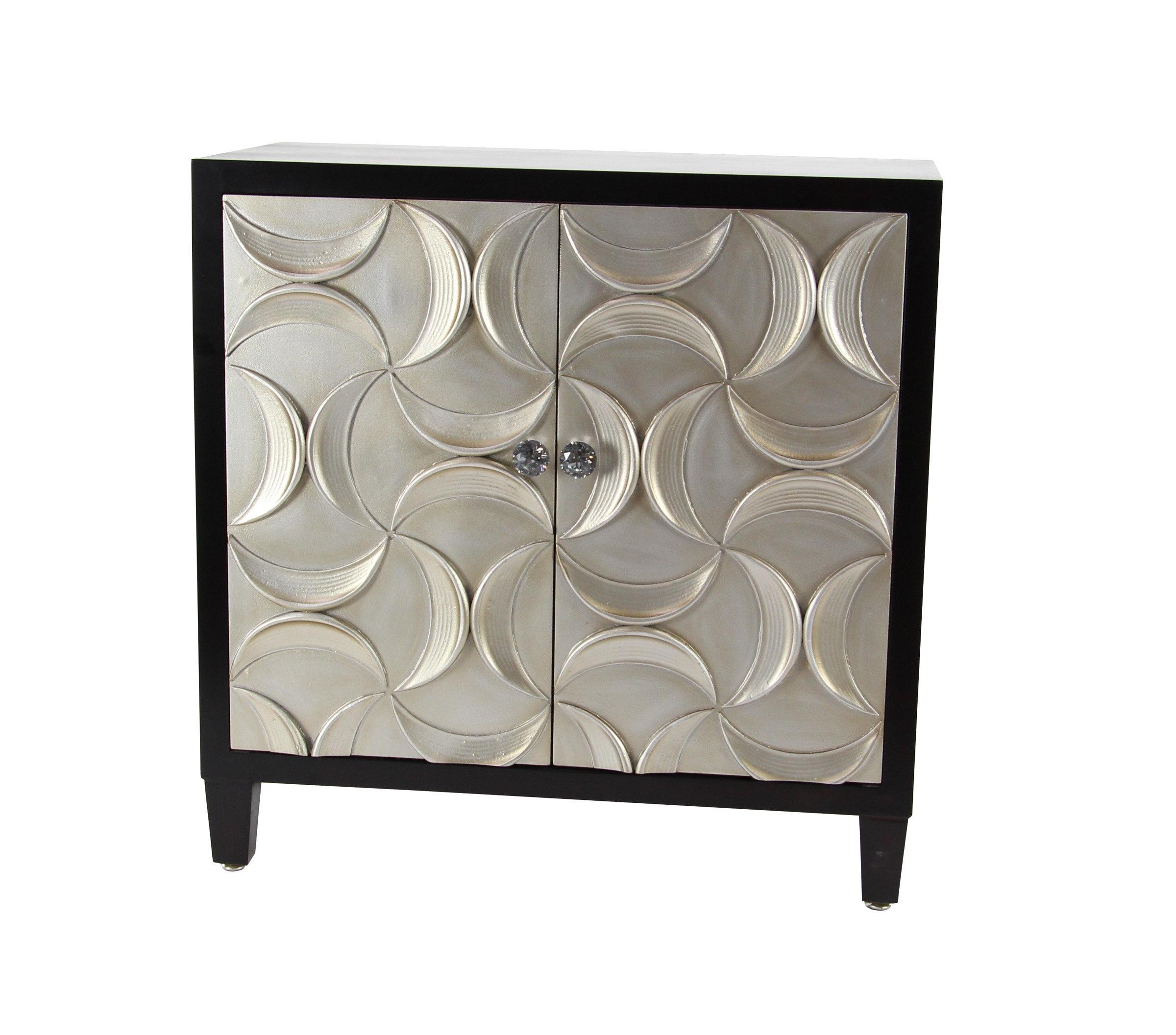 Orren Ellis Fellman Modern Wood 2 Door Accent Cabinet | Wayfair Intended For Corrugated Natural 6 Door Sideboards (View 22 of 30)