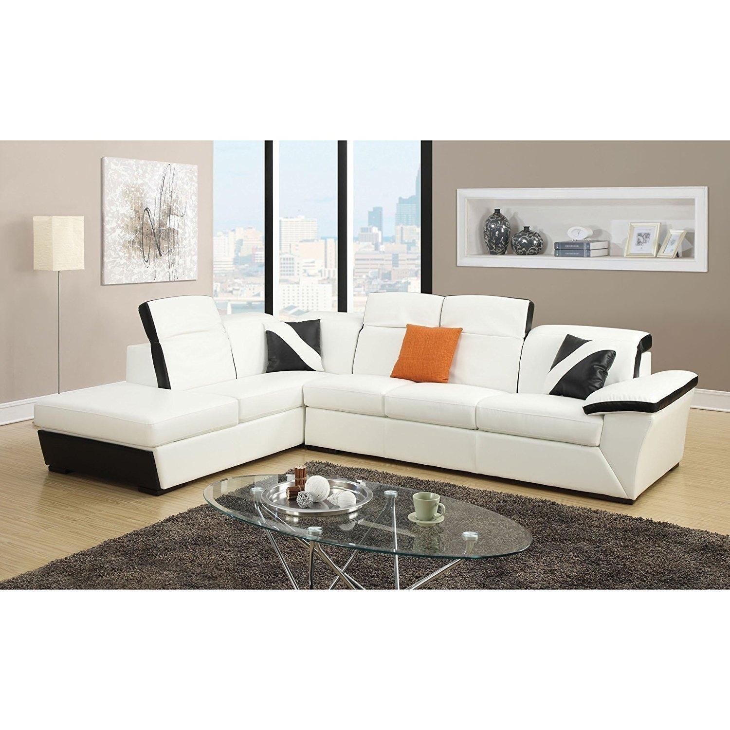 Orren Ellis Keyana Sofa Sectional | Wayfair pertaining to Collins Sofa Sectionals With Reversible Chaise (Image 22 of 30)