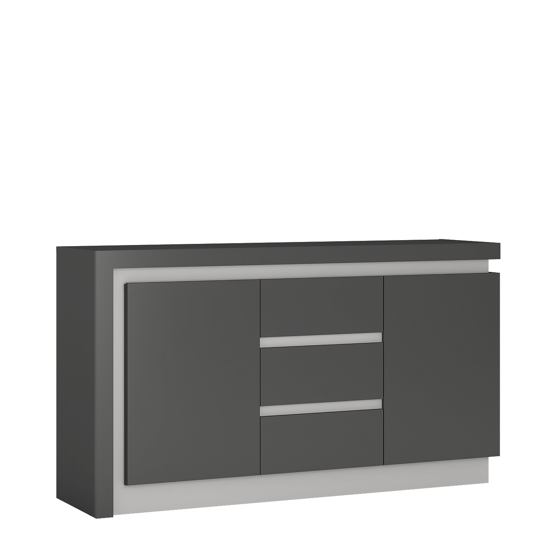 Orren Ellis Lockheart 2 Door 3 Drawer Sideboard | Wayfair.co.uk regarding 3-Drawer/2-Door Sideboards (Image 21 of 30)