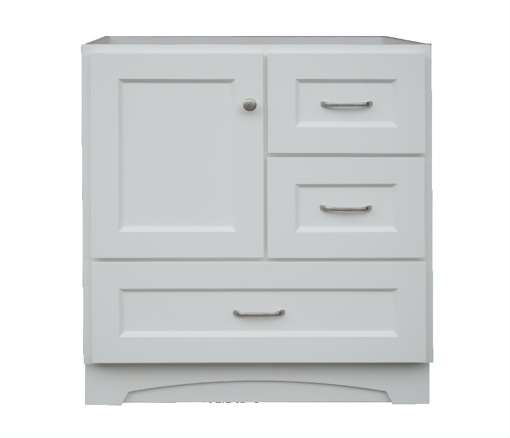 Osage Cabinet Mvr 3021-Dl-1 White 1-Door 3-Drawer Vanity 30 In X21 throughout Charcoal Finish 4-Door Jumbo Sideboards (Image 18 of 30)