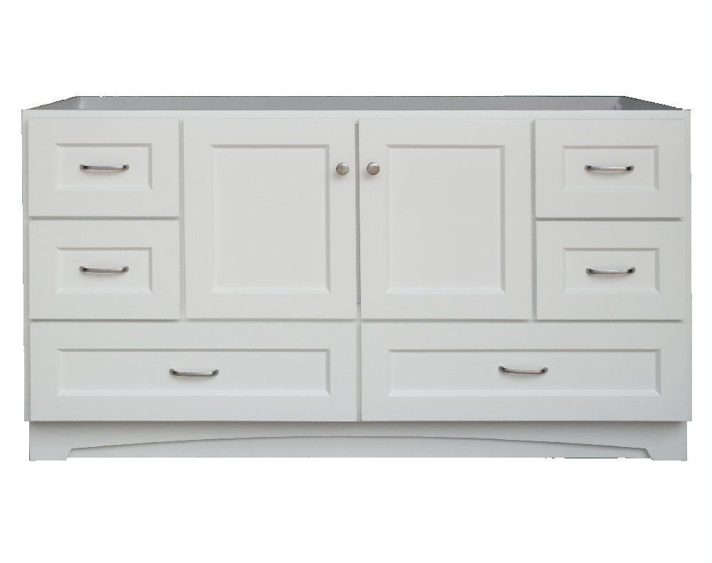 Osage Cabinet Mvr 6021-Dl-1 White 2-Door 6-Drawer Vanity 60 In X21 with Bale Rustic Grey Sideboards (Image 21 of 30)