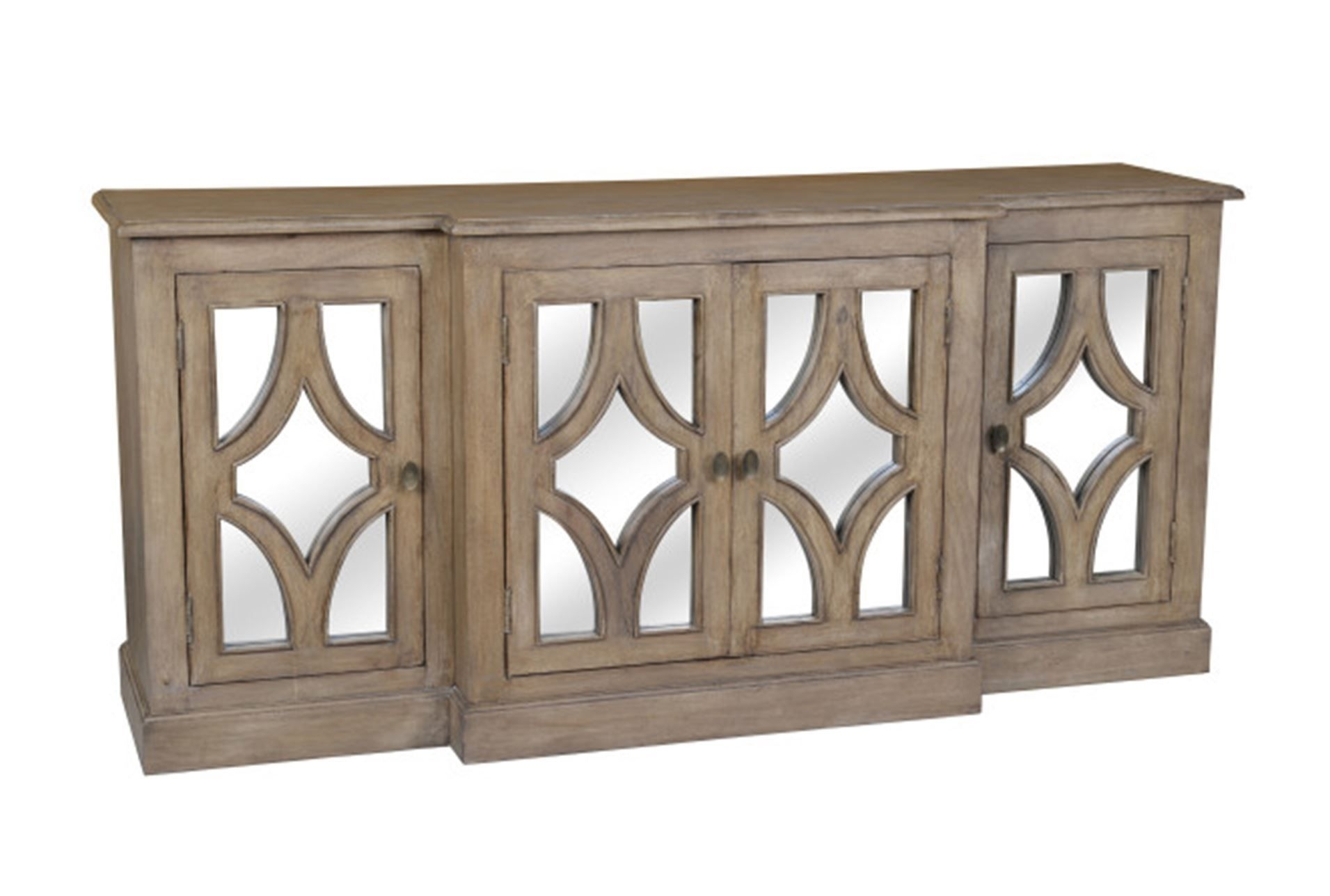 Otb Acacia Wood 4-Door Sideboard - Signature | Cherf | Pinterest within Zeema Sideboards (Image 18 of 30)