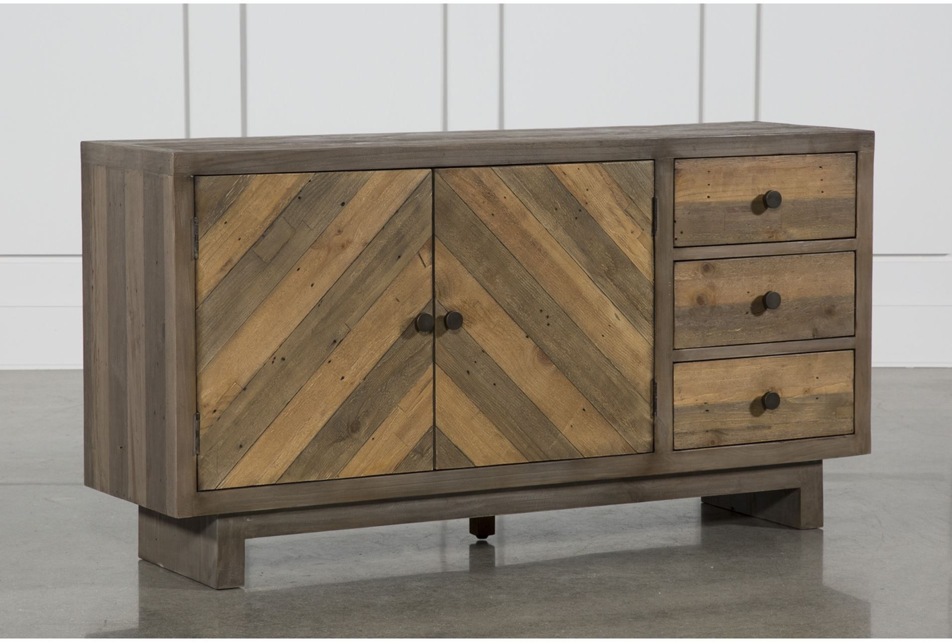 Otb Aged Pine 3-Drawer/2-Door Sideboard, Brown | Pinterest | Products throughout Mid Burnt Oak 71 Inch Sideboards (Image 14 of 30)