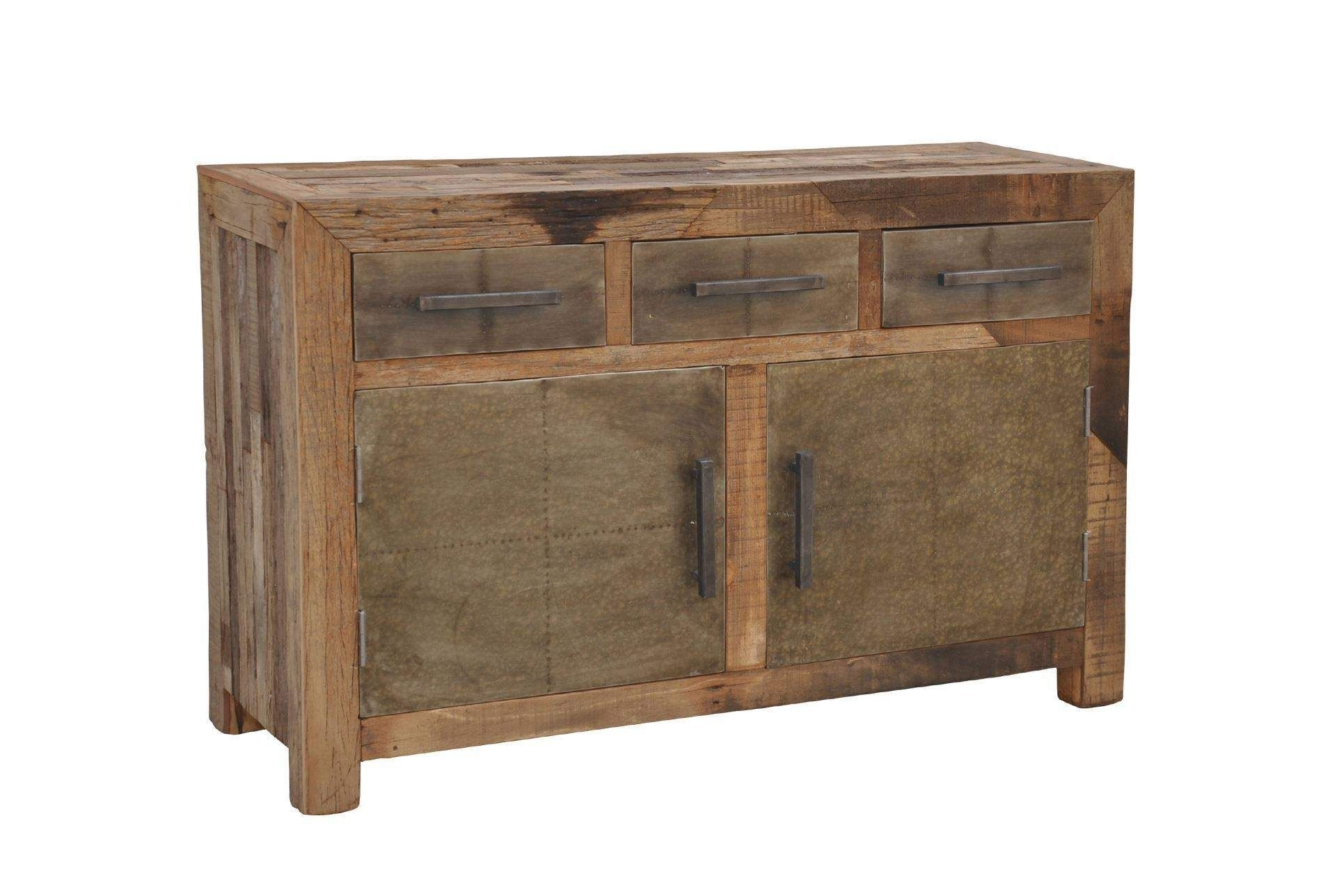 Otb Akash 3-Drawer/2-Door Sideboard | Country Rustic/farm Decor with Reclaimed Pine Turquoise 4-Door Sideboards (Image 18 of 30)