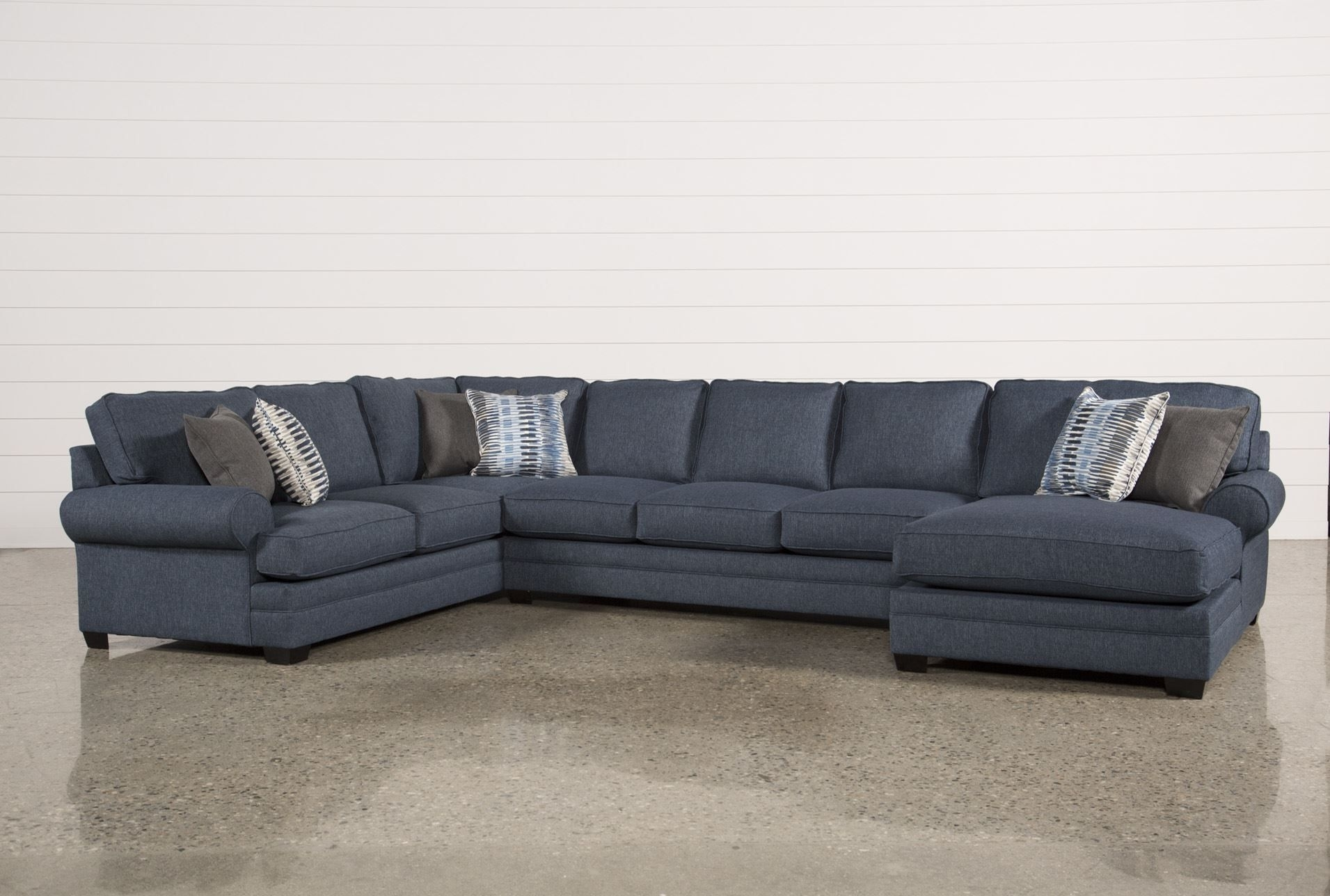 Our Karen 3-Piece Sectional Blends Elements From The Past And pertaining to Alder 4 Piece Sectionals (Image 25 of 30)