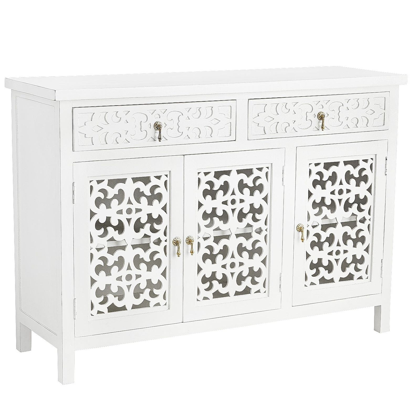 Our Landyn Tv Stand Proves A Media Cabinet Needn't Be Masculine throughout Mandara 3-Drawer 2-Door Sideboards (Image 20 of 30)