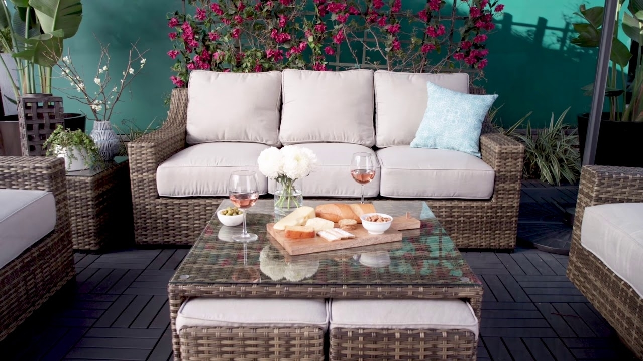 Outdoor Aventura Sofa   Living Spaces - Youtube within Denali Light Grey 6 Piece Reclining Sectionals With 2 Power Headrests (Image 25 of 30)