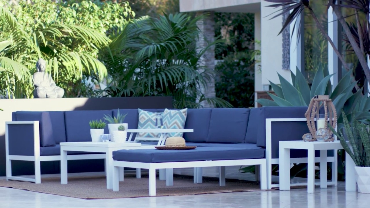 Outdoor Biscayne Ii Sectional | Living Spaces - Youtube in Denali Light Grey 6 Piece Reclining Sectionals With 2 Power Headrests (Image 26 of 30)