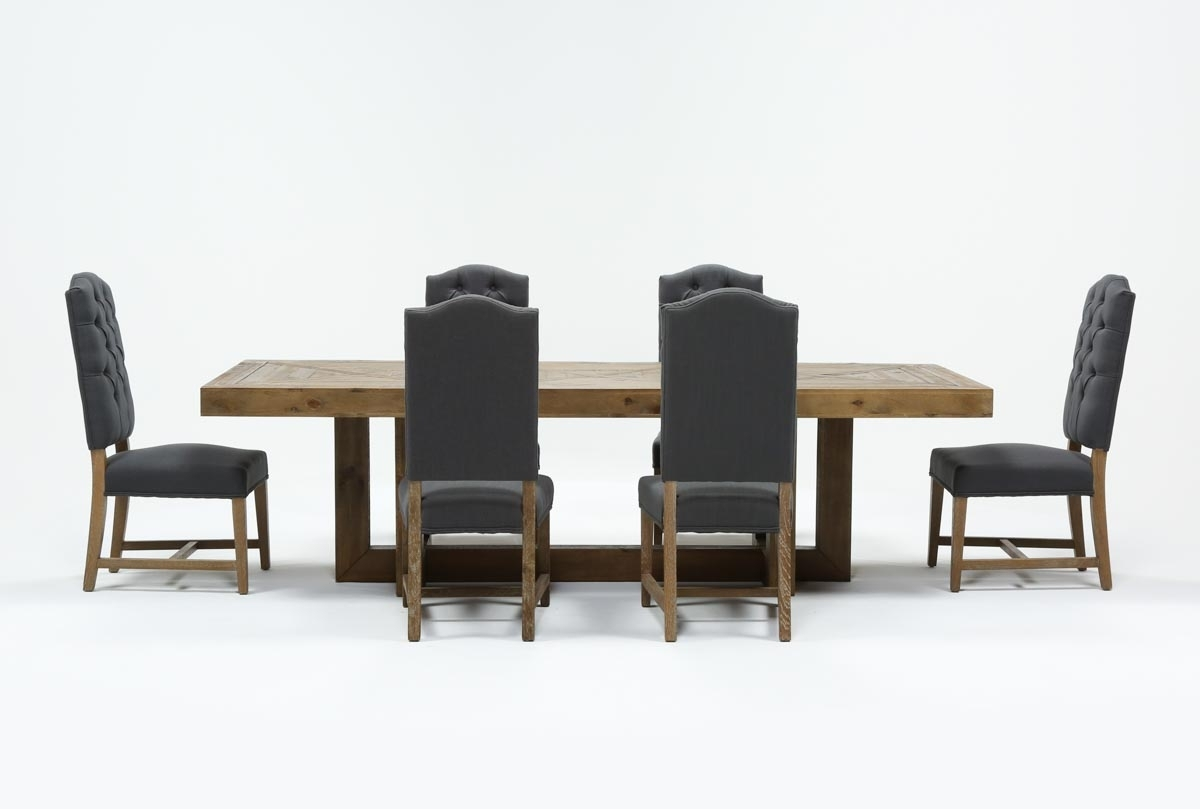 Palazzo 7 Piece Rectangle Dining Set With Joss Side Chairs | Living for Palazzo 87 Inch Sideboards (Image 24 of 30)