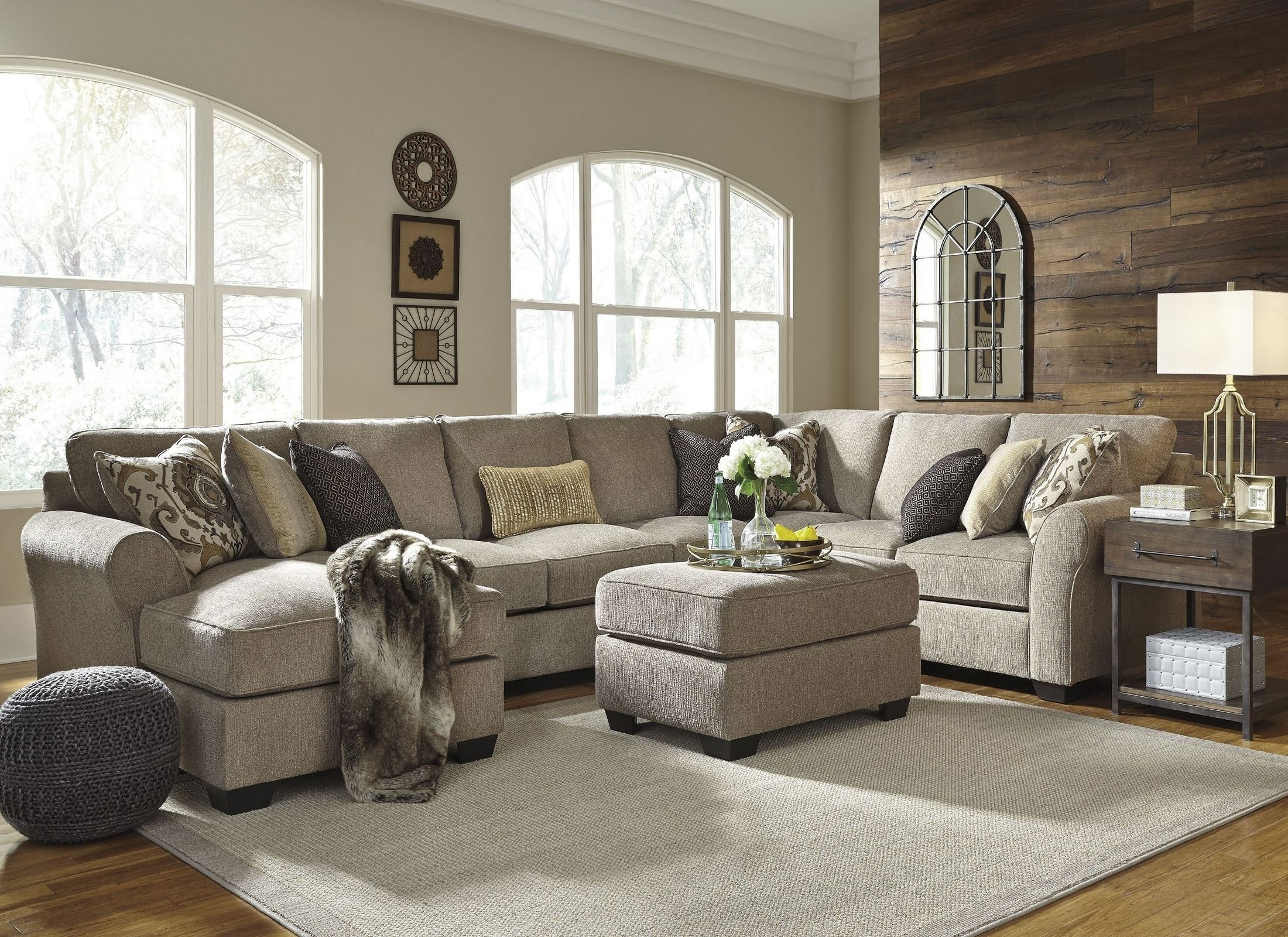 Pantomine Driftwood Laf Large Chaise Sectional From Ashley | Coleman With Regard To Harper Foam 3 Piece Sectionals With Raf Chaise (Photo 23 of 30)
