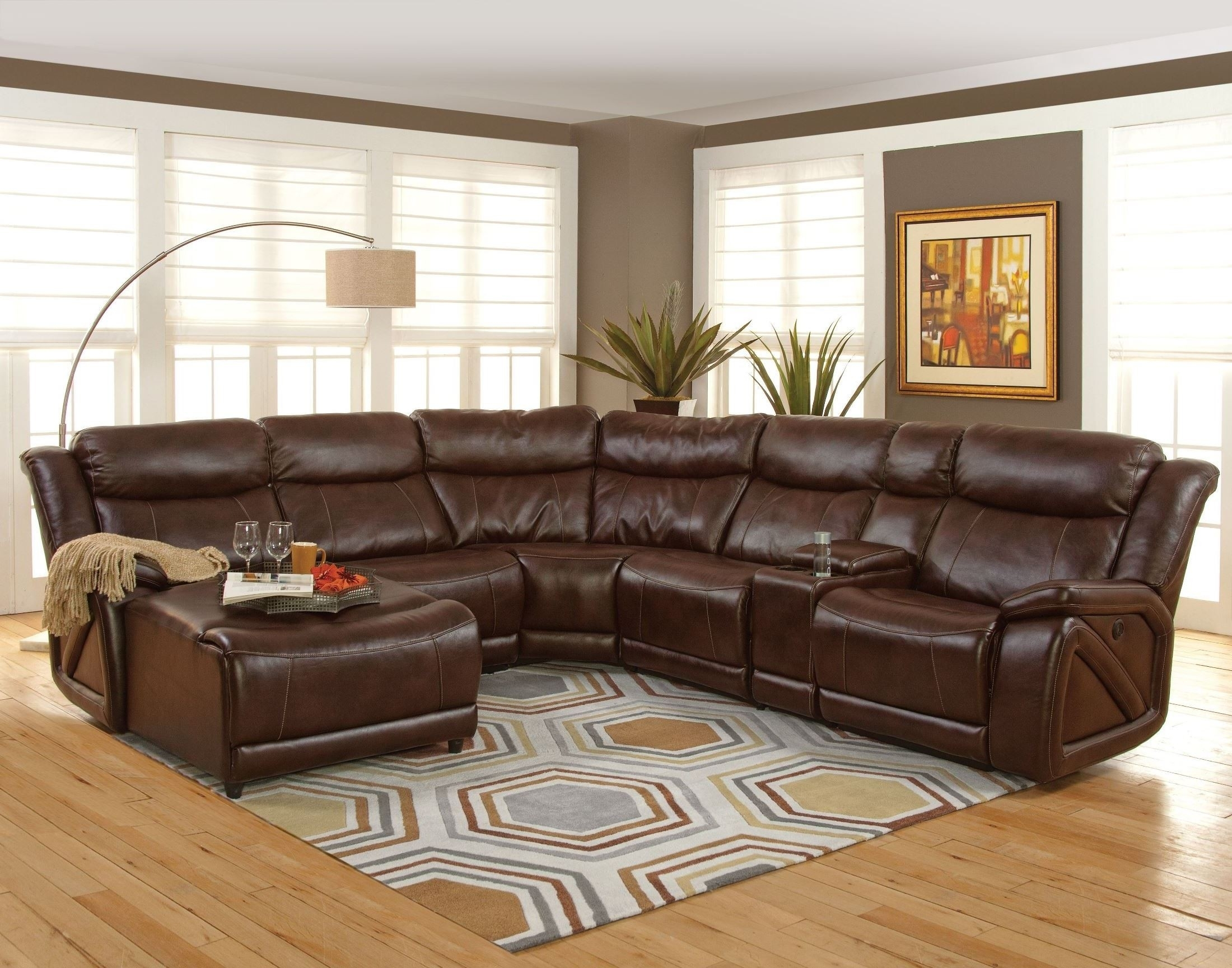 Park Place Premier Brown Laf Sectional From New Classics (20-225-17L with regard to Turdur 3 Piece Sectionals With Laf Loveseat (Image 16 of 30)
