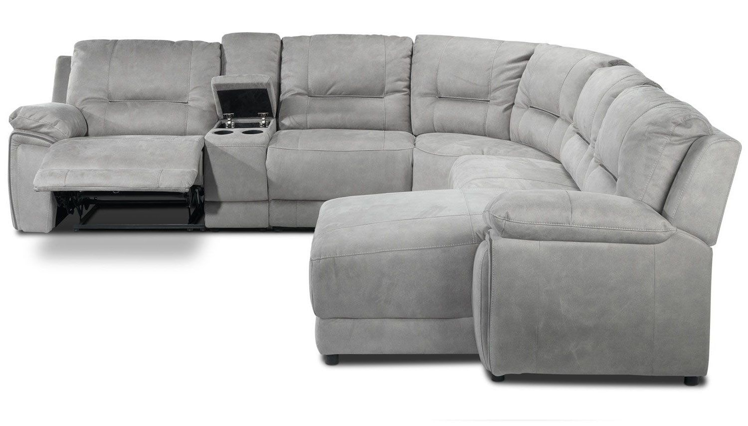 Pasadena 6 Pc. Reclining Sectional With Chaise | Leon's | Design With Jackson 6 Piece Power Reclining Sectionals With  Sleeper (Photo 28 of 30)