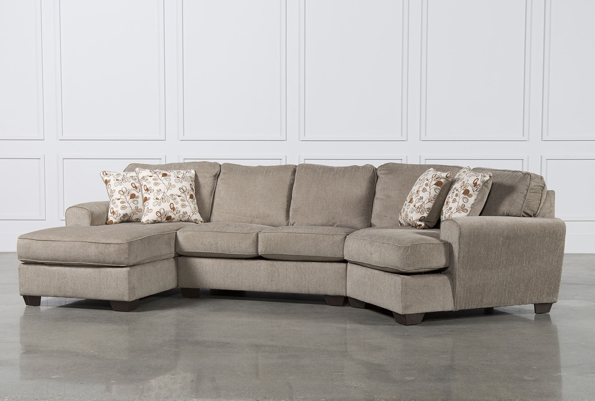 Patola Park 3 Piece Cuddler Sectional W/laf Corner Chaise With Regard To Sierra Down 3 Piece Sectionals With Laf Chaise (View 20 of 30)
