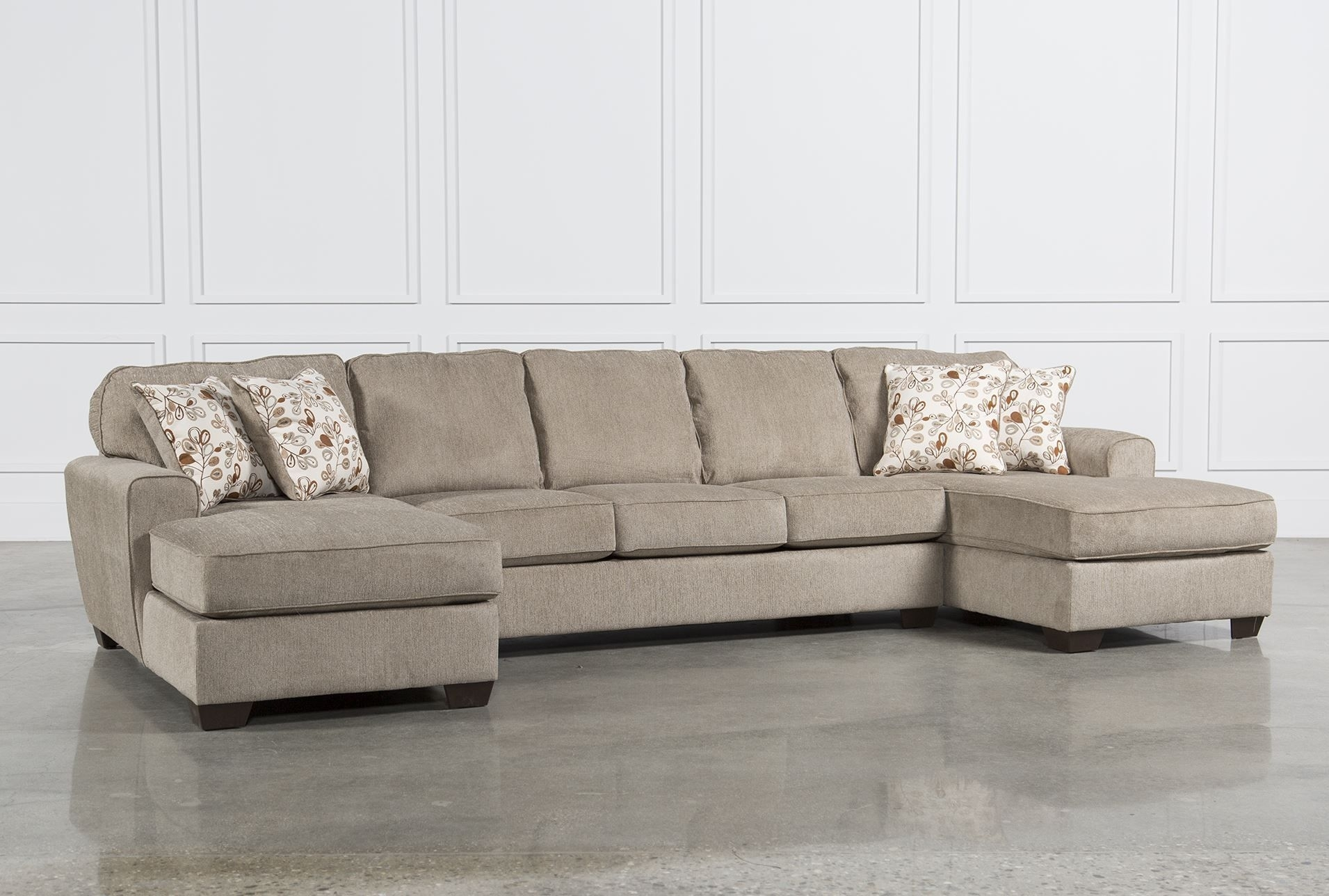 Patola Park 3 Piece Sectional W/2 Corner Chaises - Signature inside Avery 2 Piece Sectionals With Laf Armless Chaise (Image 22 of 30)
